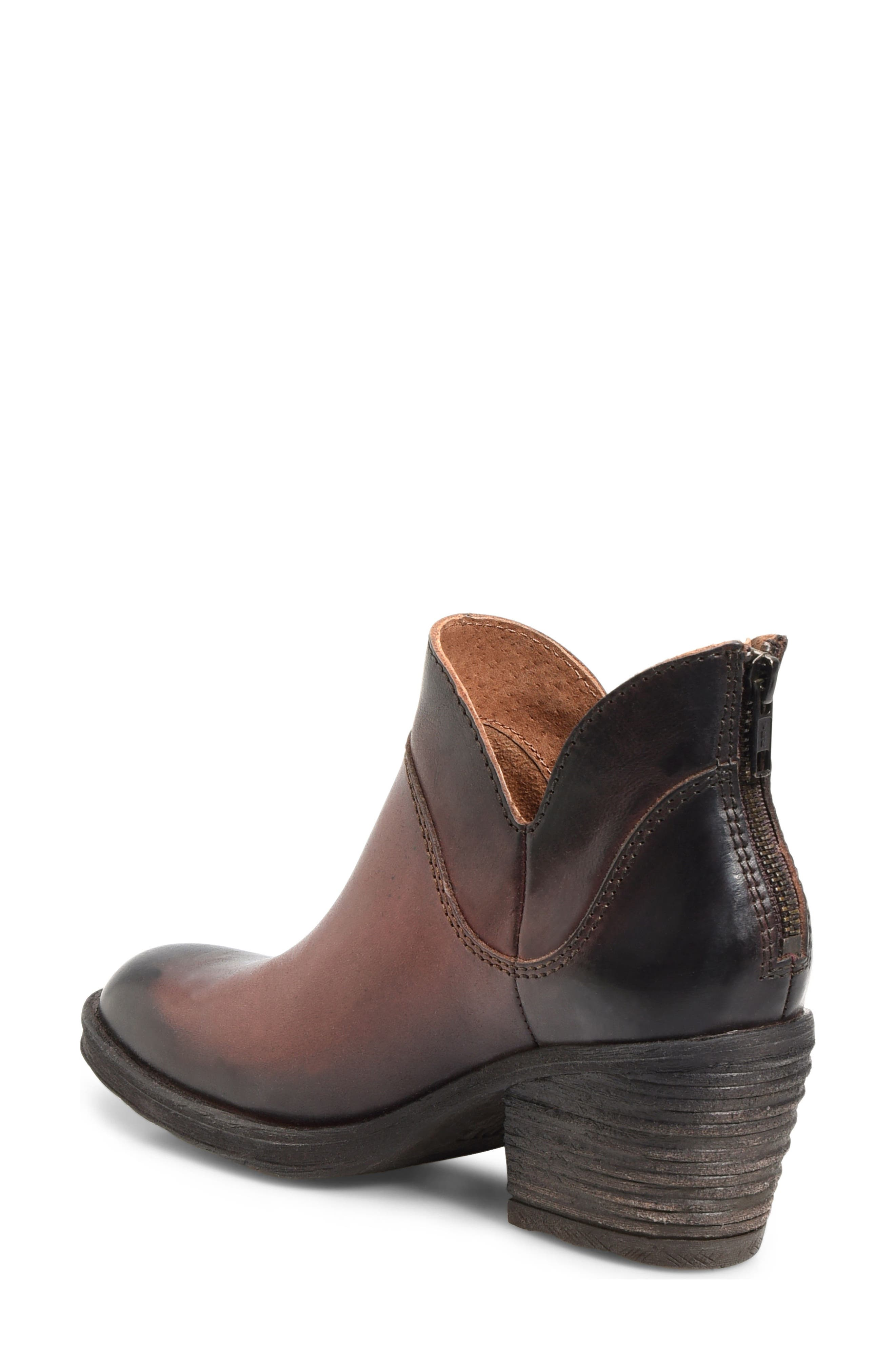 Chisel Bootie,                             Alternate thumbnail 2, color,                             Brown Leather