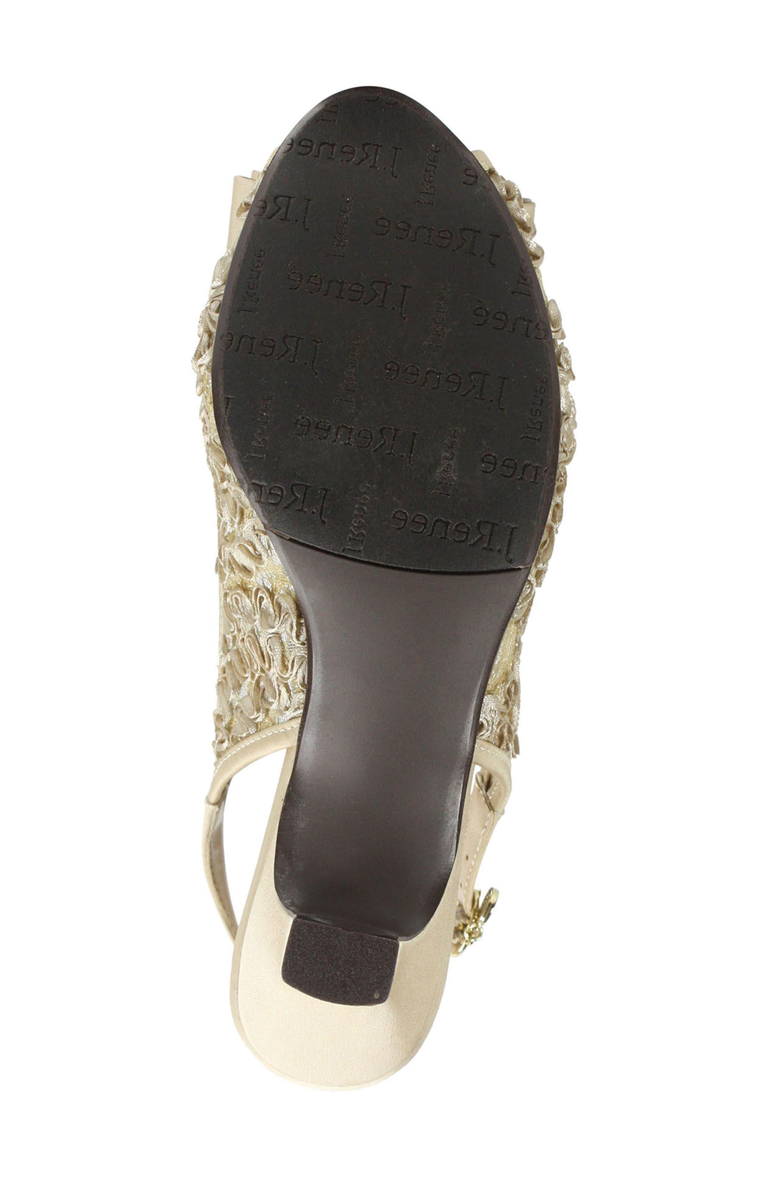 Landan Bow Slingback Sandal,                             Alternate thumbnail 5, color,                             Champagne