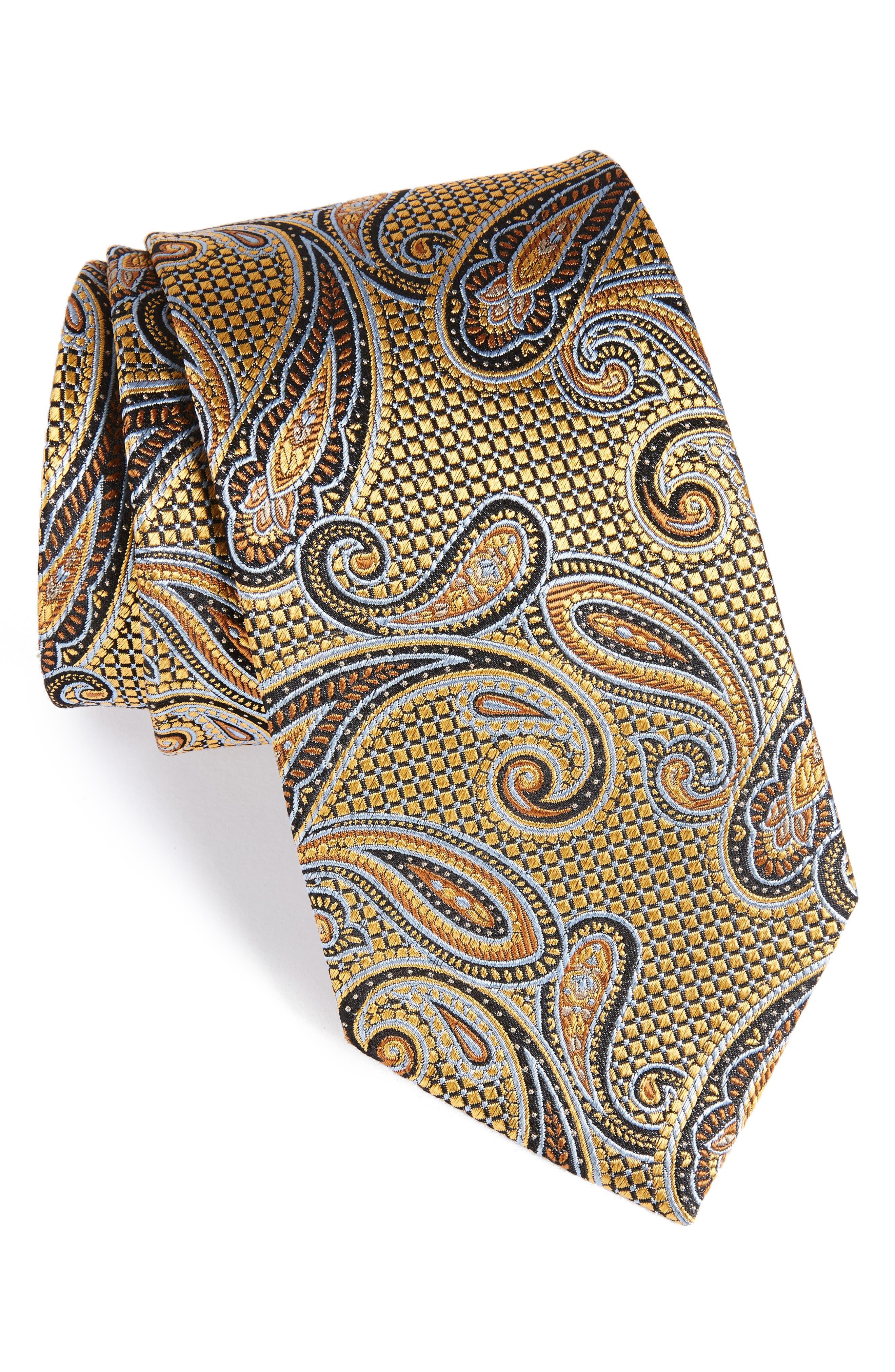 Alternate Image 1 Selected - Nordstrom Men's Shop Paisley Silk Tie (X-Long)