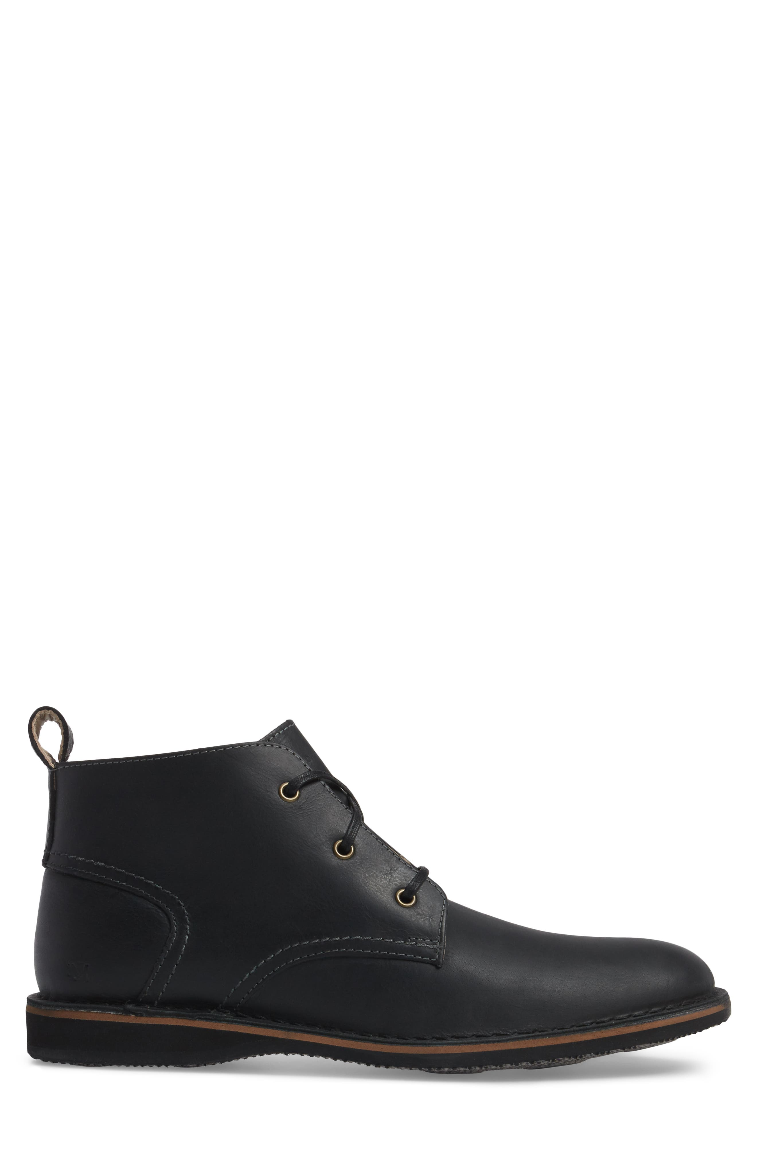 Dorchester Chukka Boot,                             Alternate thumbnail 3, color,                             Black Leather
