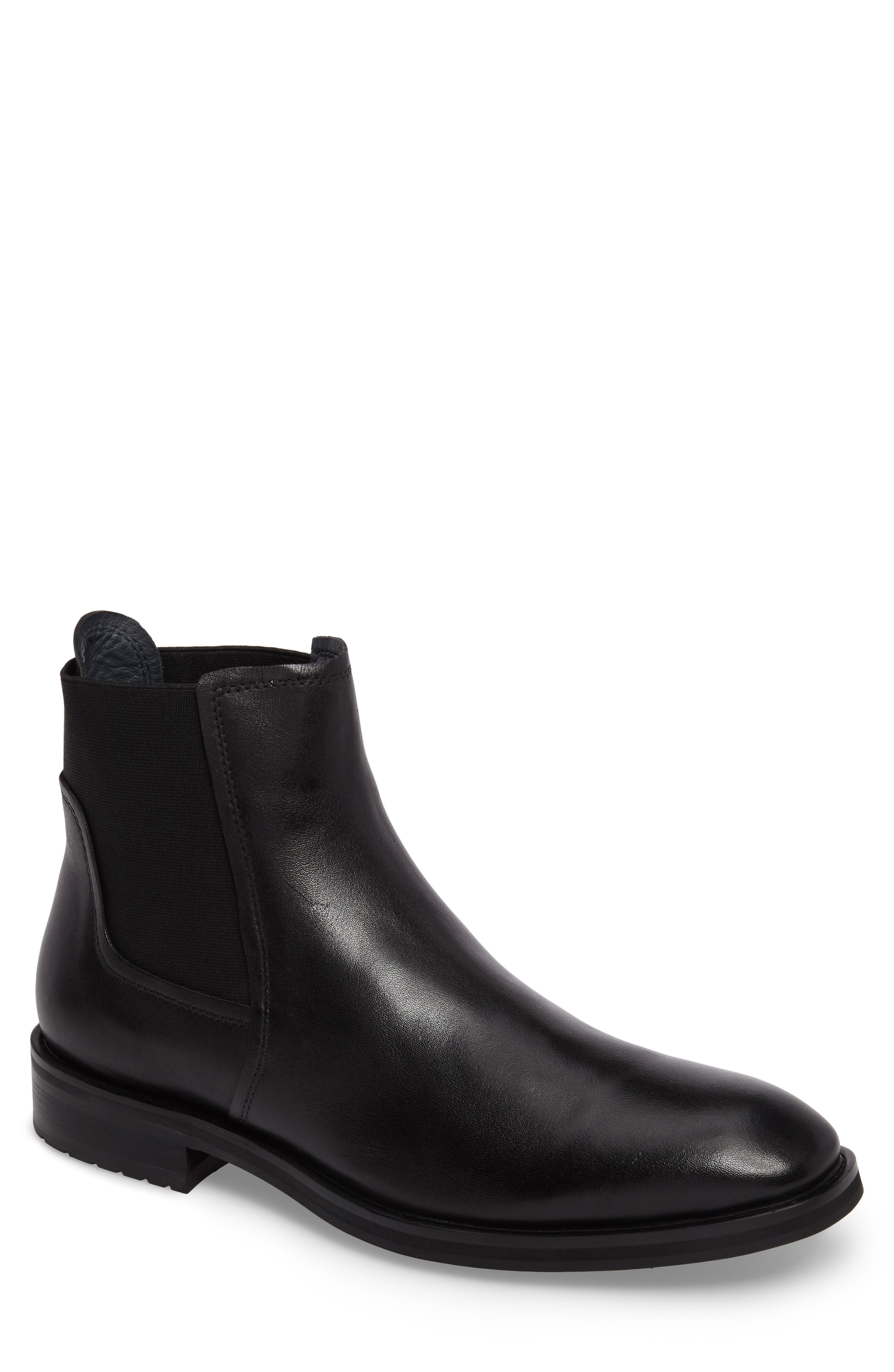 Belmont Chelsea Boot,                         Main,                         color, Black Leather