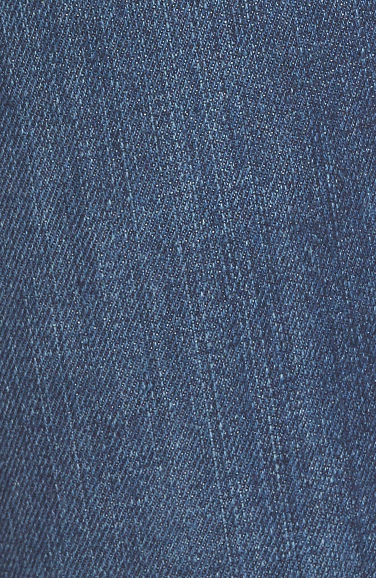 Alternate Image 5  - Good American Good Legs High Waist Skinny Jeans (Blue 046) (Extended Sizes)