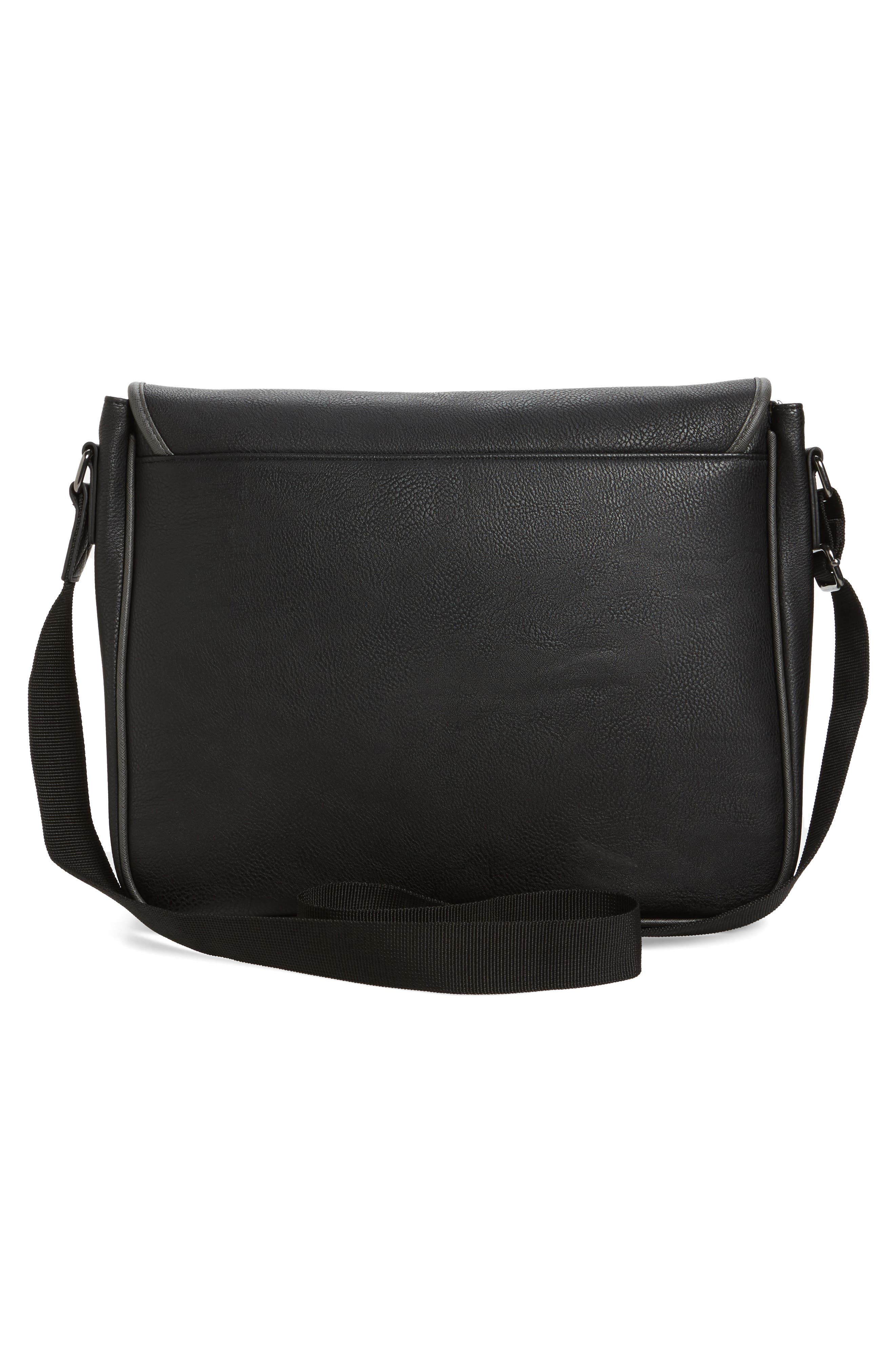 Buzard Messenger Bag,                             Alternate thumbnail 3, color,                             Black