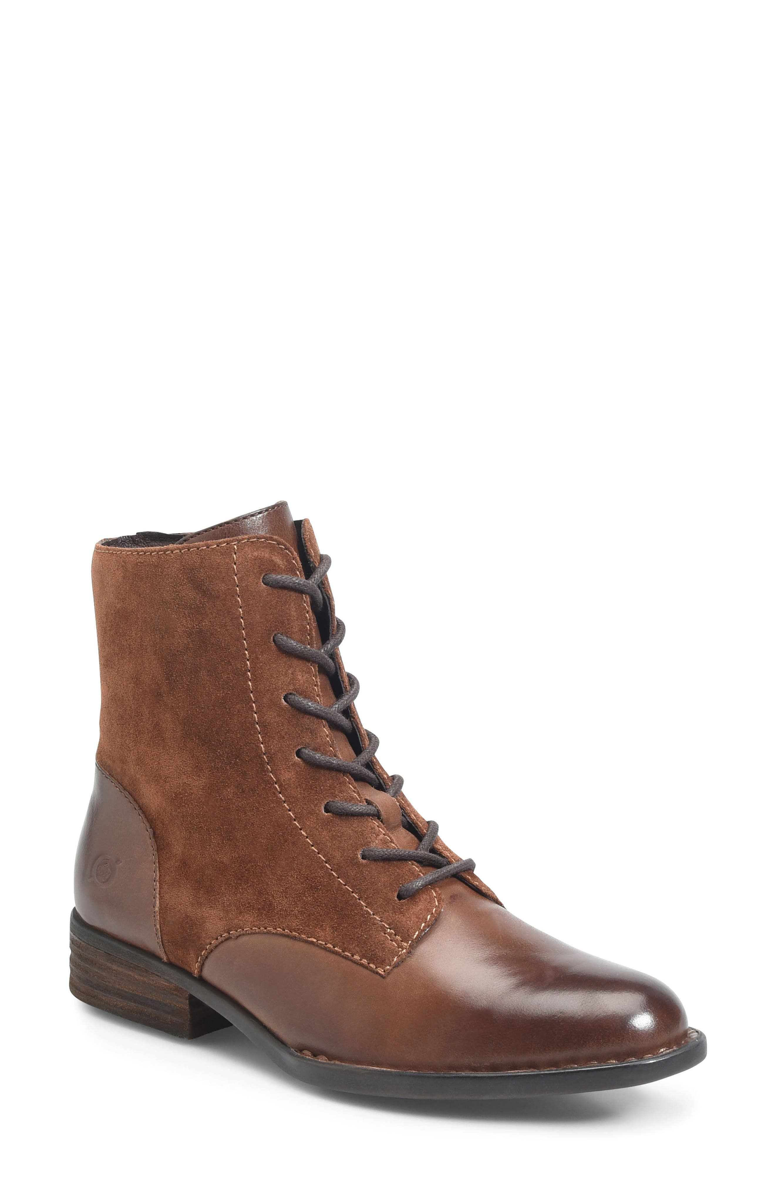 Clements Lace-Up Boot,                         Main,                         color, Brown/ Rust Combo