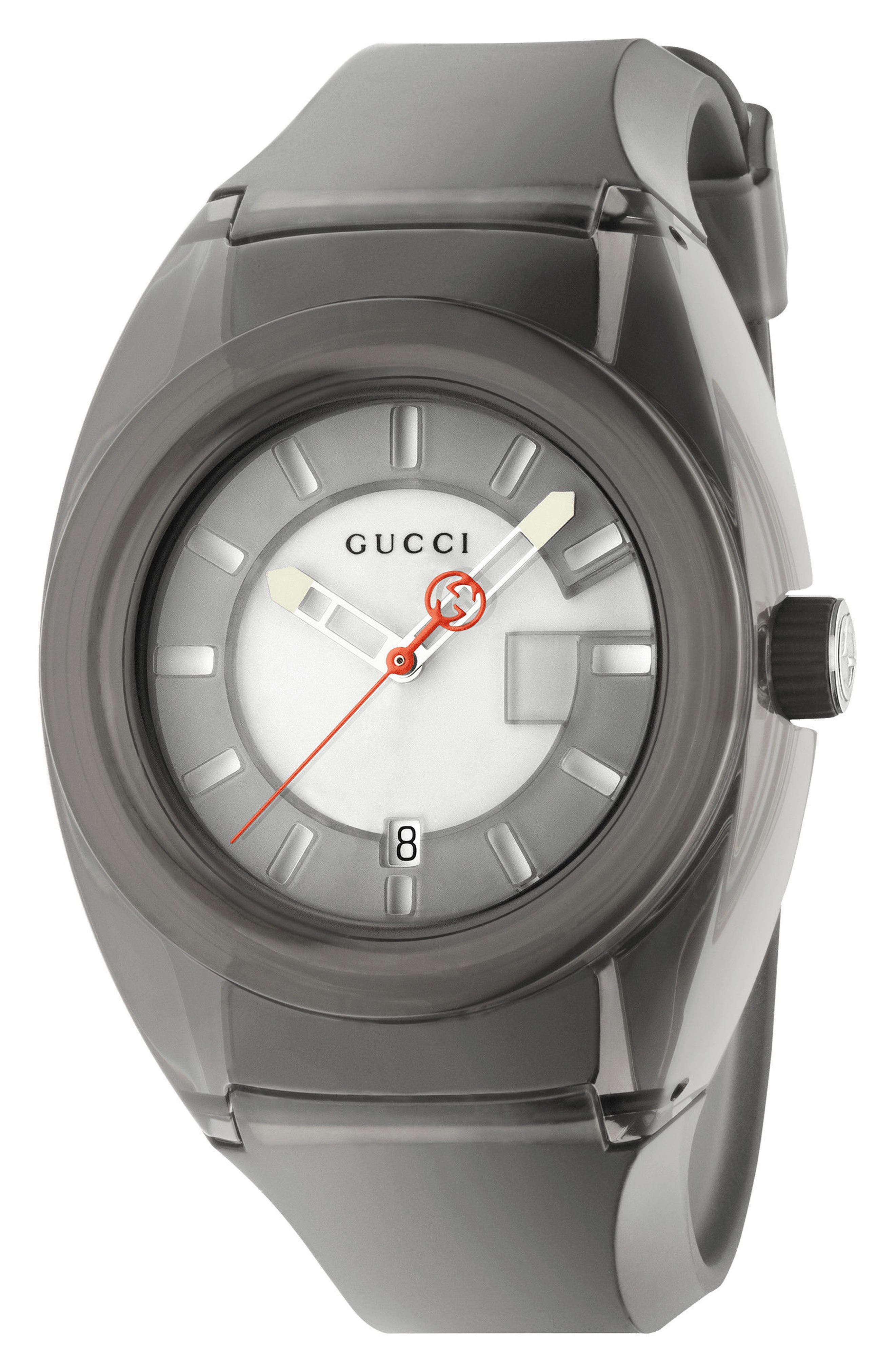 Gucci Sync Rubber Strap Watch, 40mm