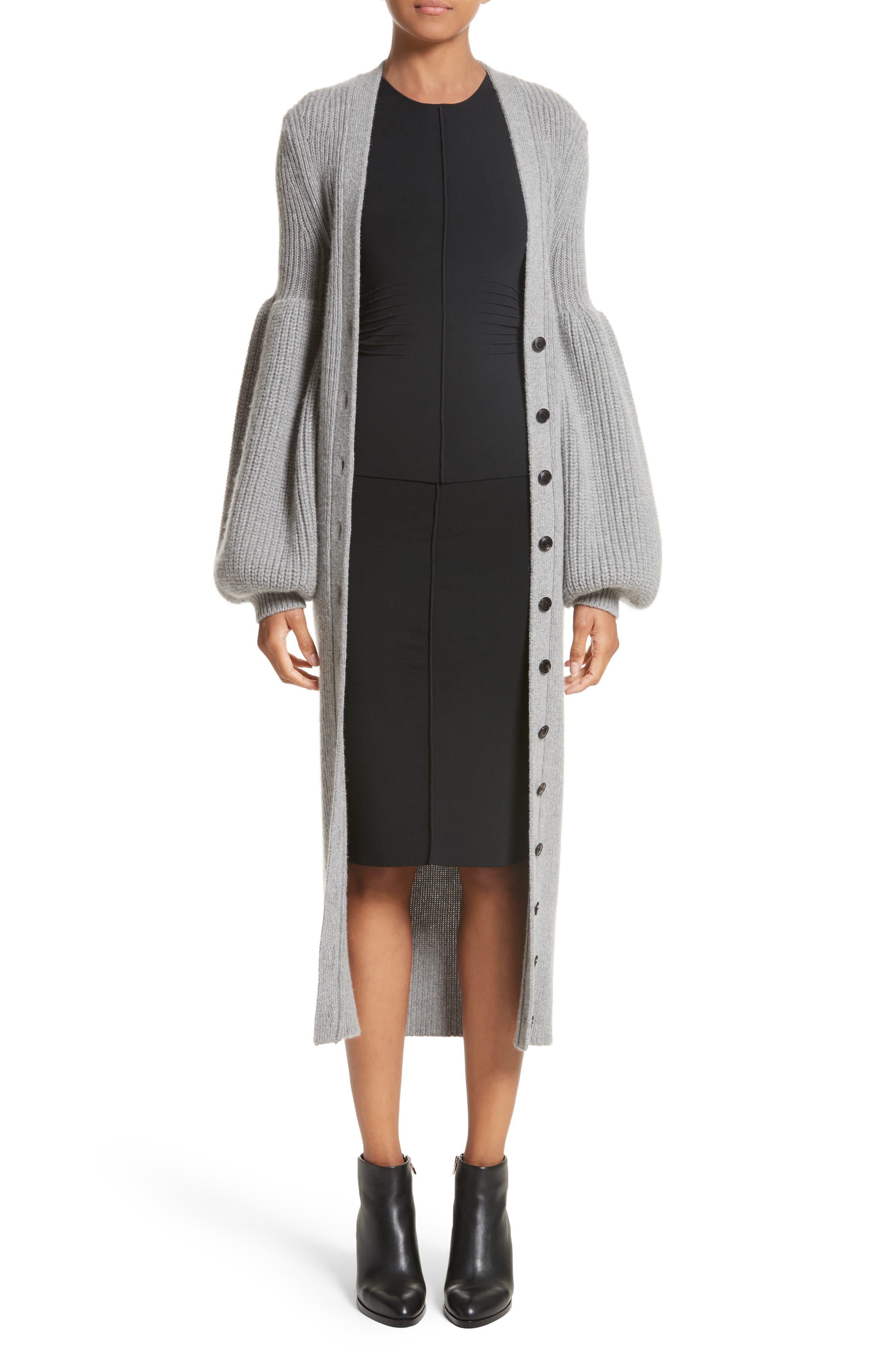 Knit Pencil Skirt,                             Alternate thumbnail 9, color,                             Black
