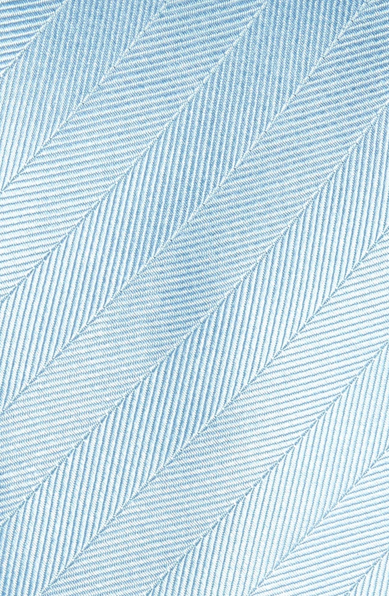 Herringbone Vow Silk Tie,                             Alternate thumbnail 2, color,                             Steel Blue