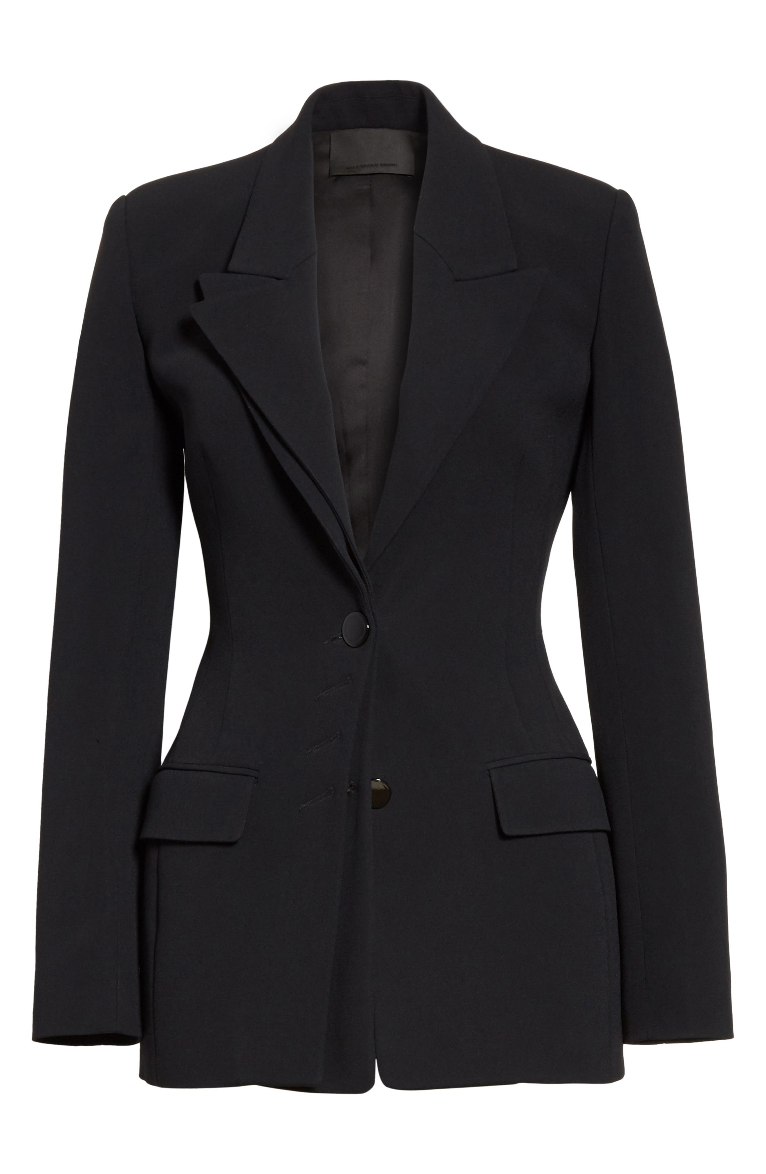 Multi Button Jacket,                             Alternate thumbnail 6, color,                             Black