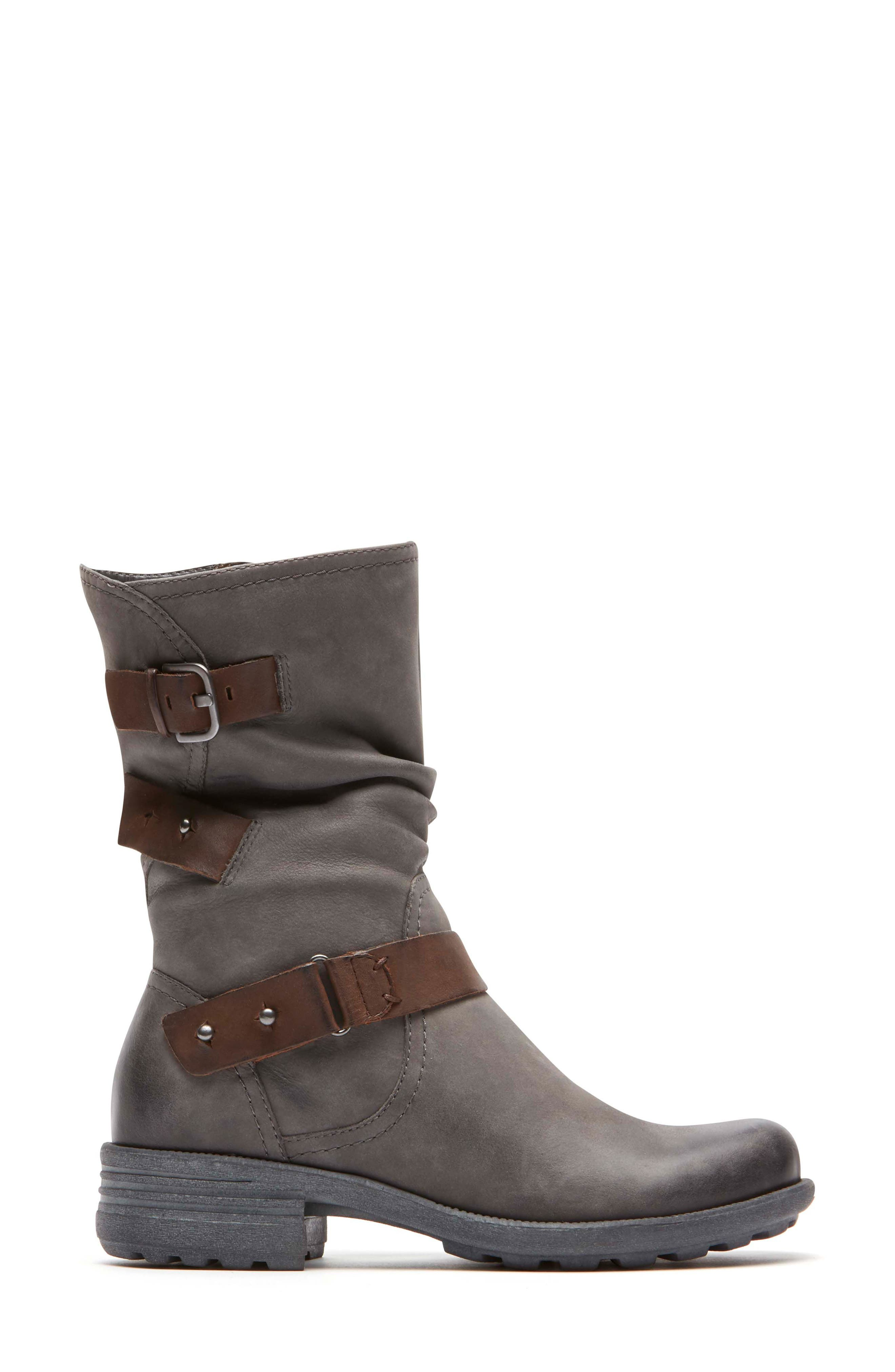 Brunswick Boot,                             Alternate thumbnail 3, color,                             Dark Grey Leather