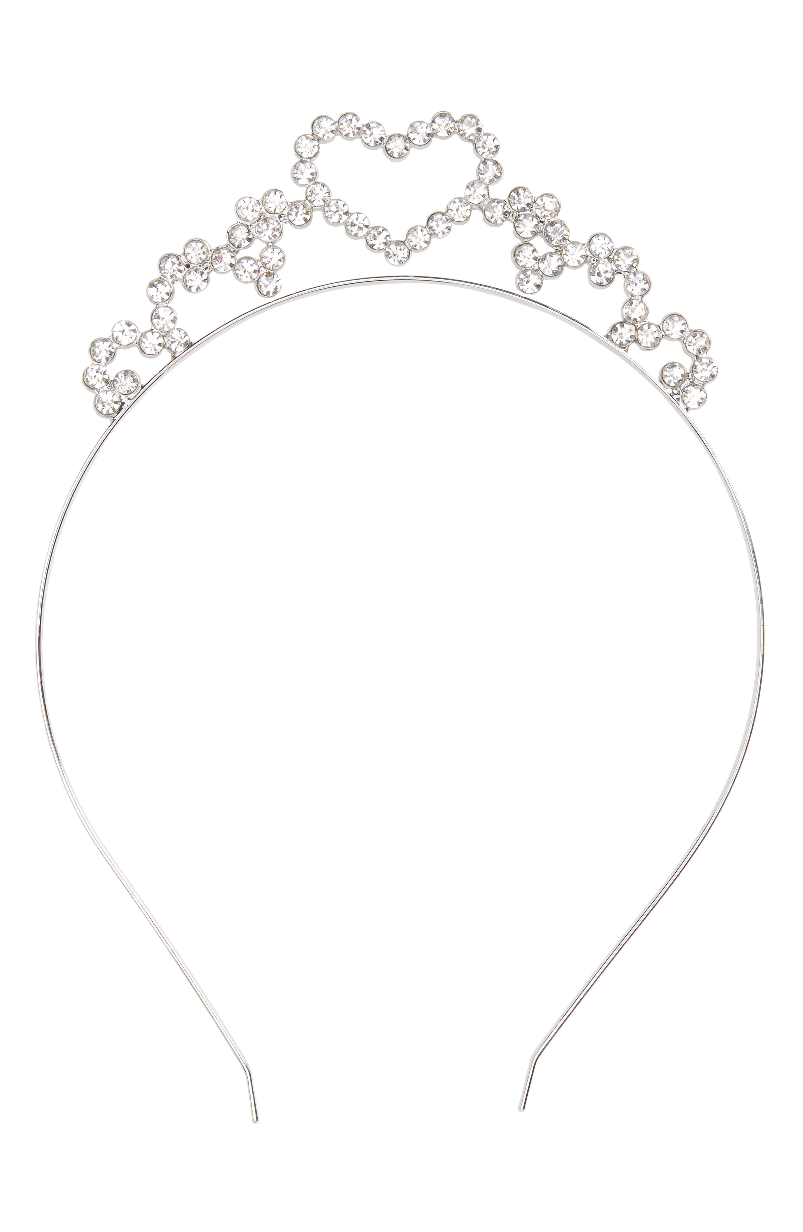 Alternate Image 1 Selected - Accessory Collective Crystal Heart Headband (Girls)