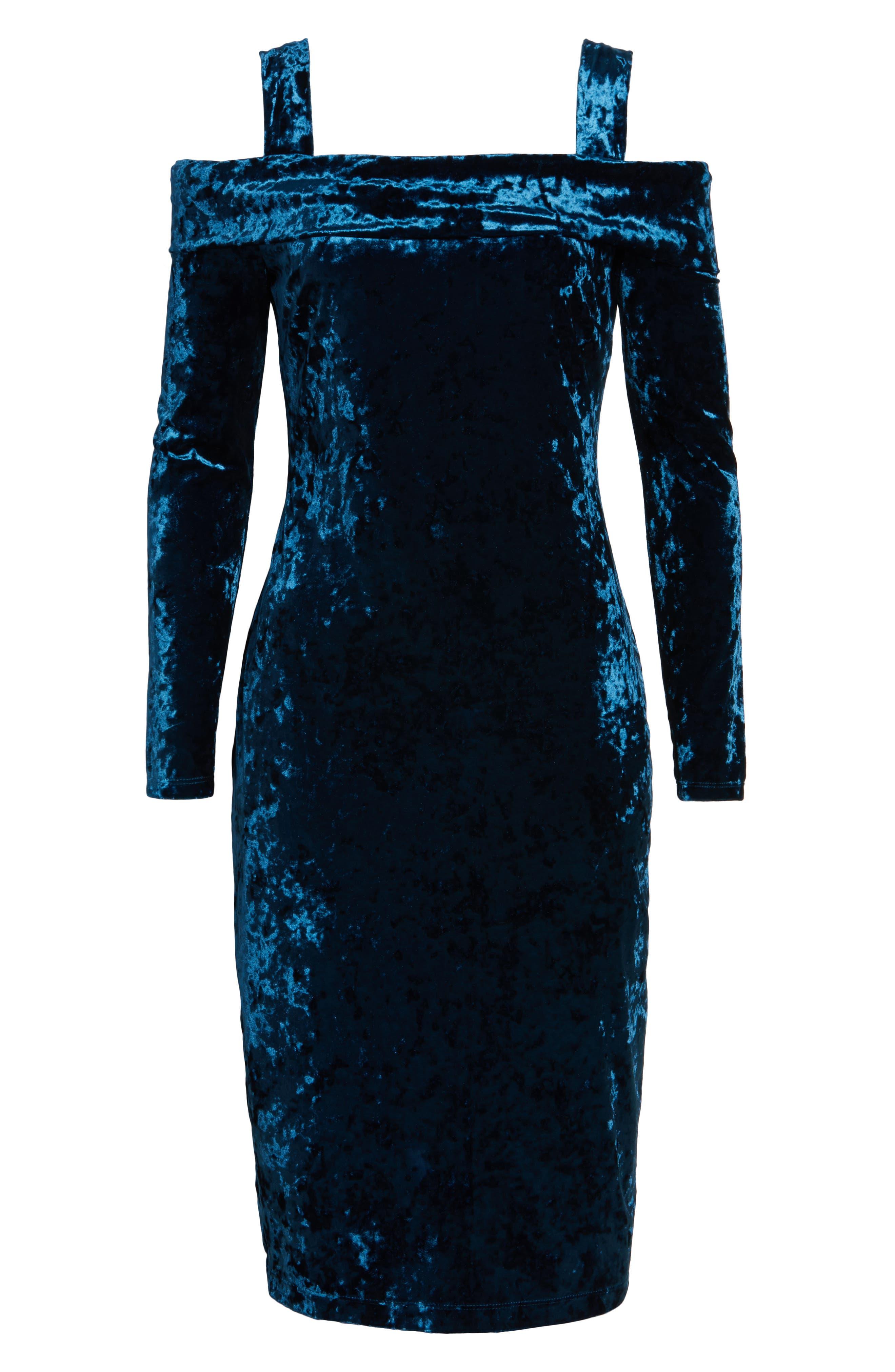 Alternate Image 6  - Maggy London Crushed Velvet Off the Shoulder Dress