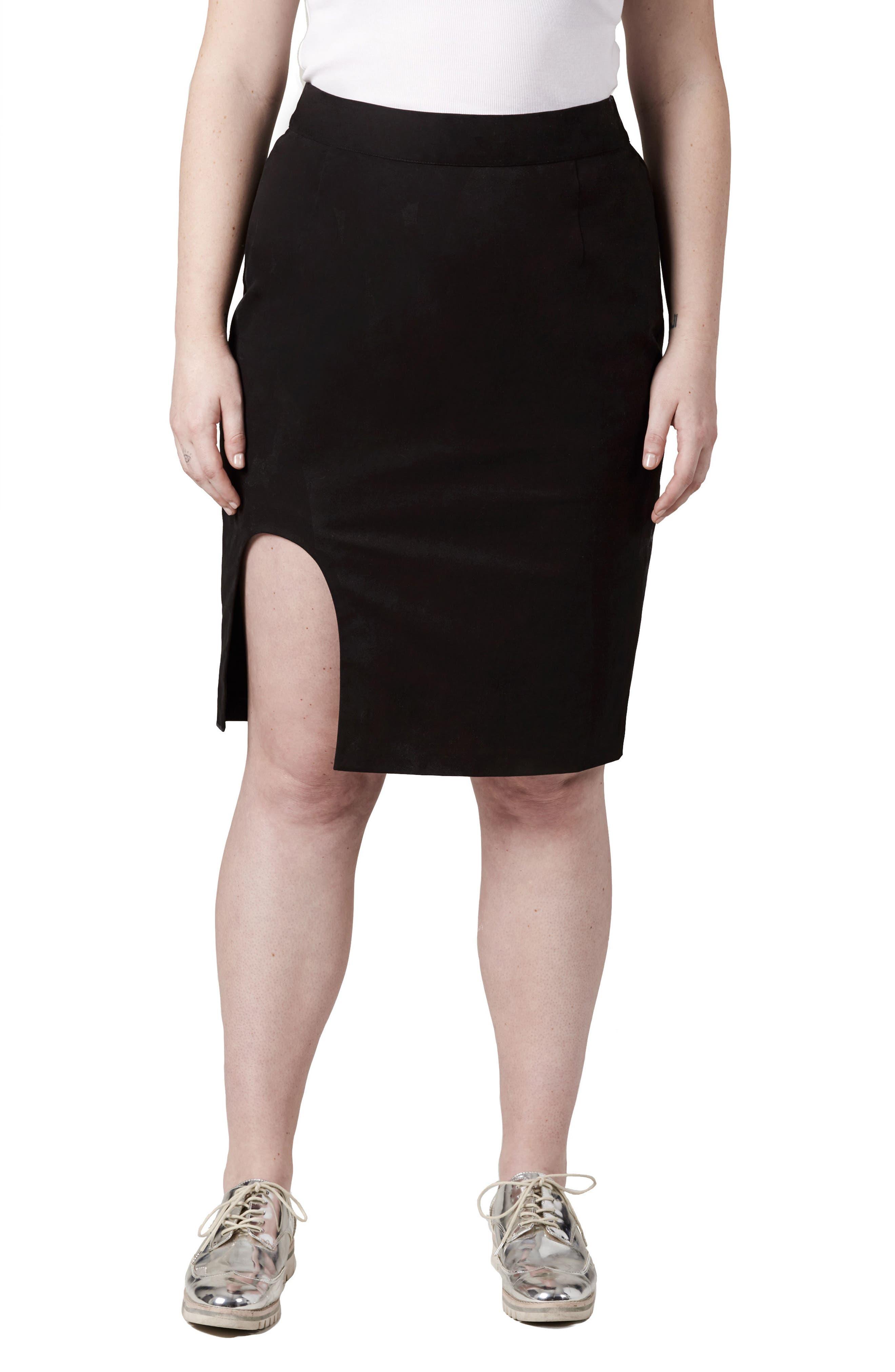 Alternate Image 1 Selected - UNIVERSAL STANDARD Unity Cutout Skirt (Plus Size)