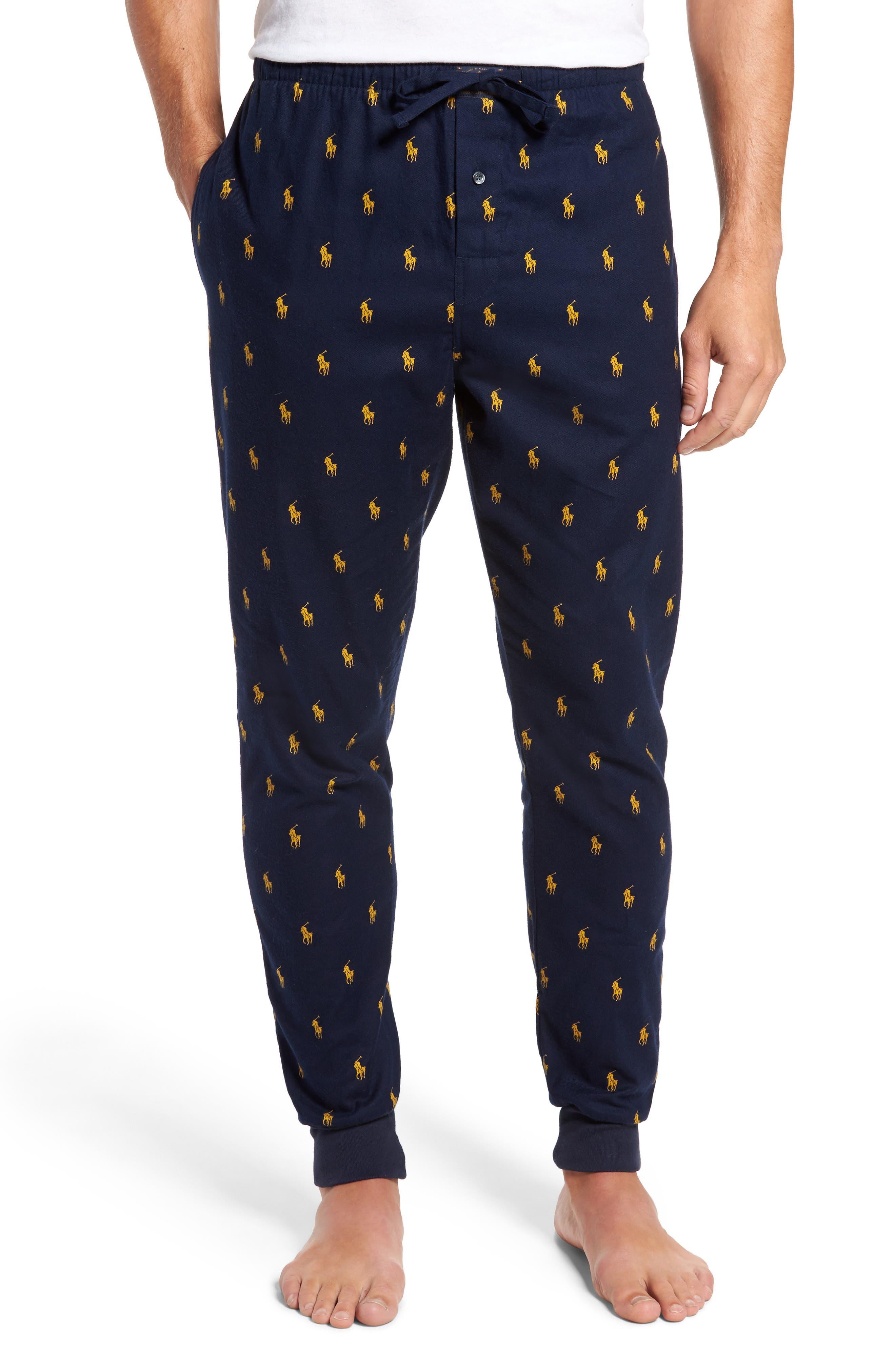 Main Image - Polo Ralph Lauren Flannel Cotton Jogger Pants