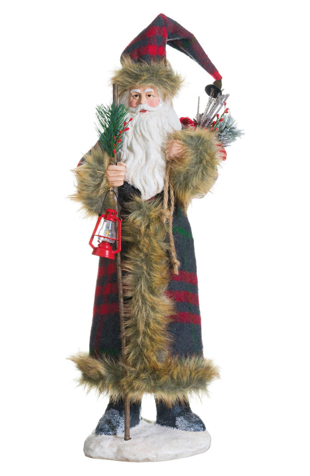 Santa Figurine,                             Main thumbnail 1, color,                             Green