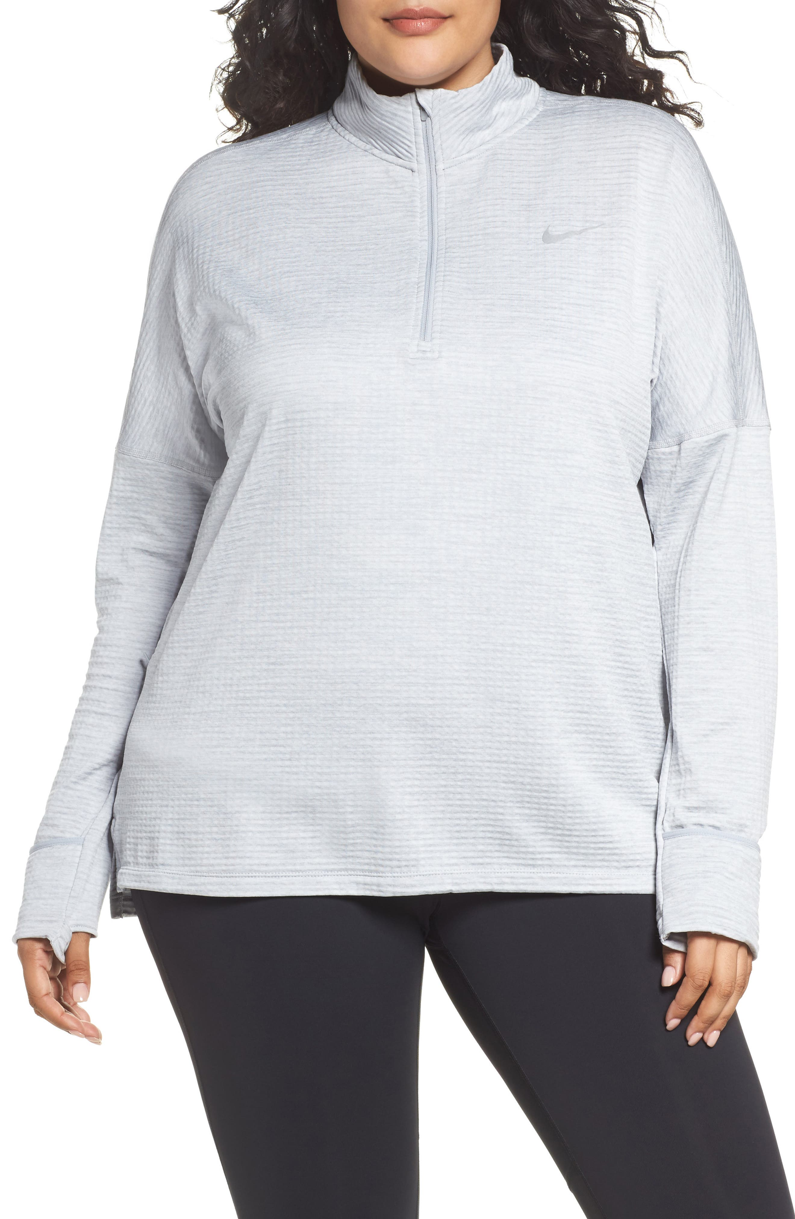 Alternate Image 1 Selected - Nike Sphere Element Long Sleeve Running Top (Plus Size)