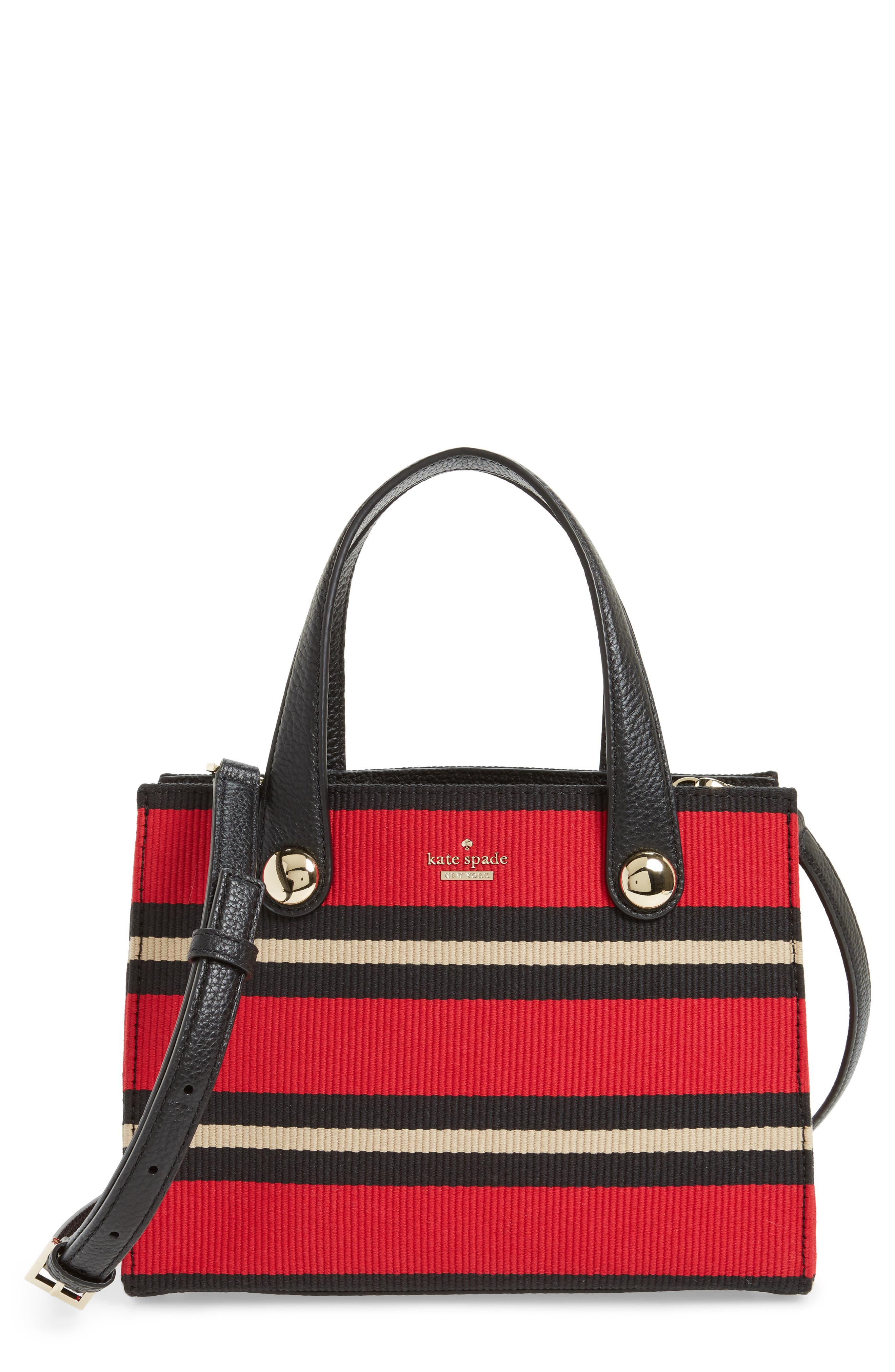 stewart street - little joy stripe grosgrain satchel,                         Main,                         color, Multi