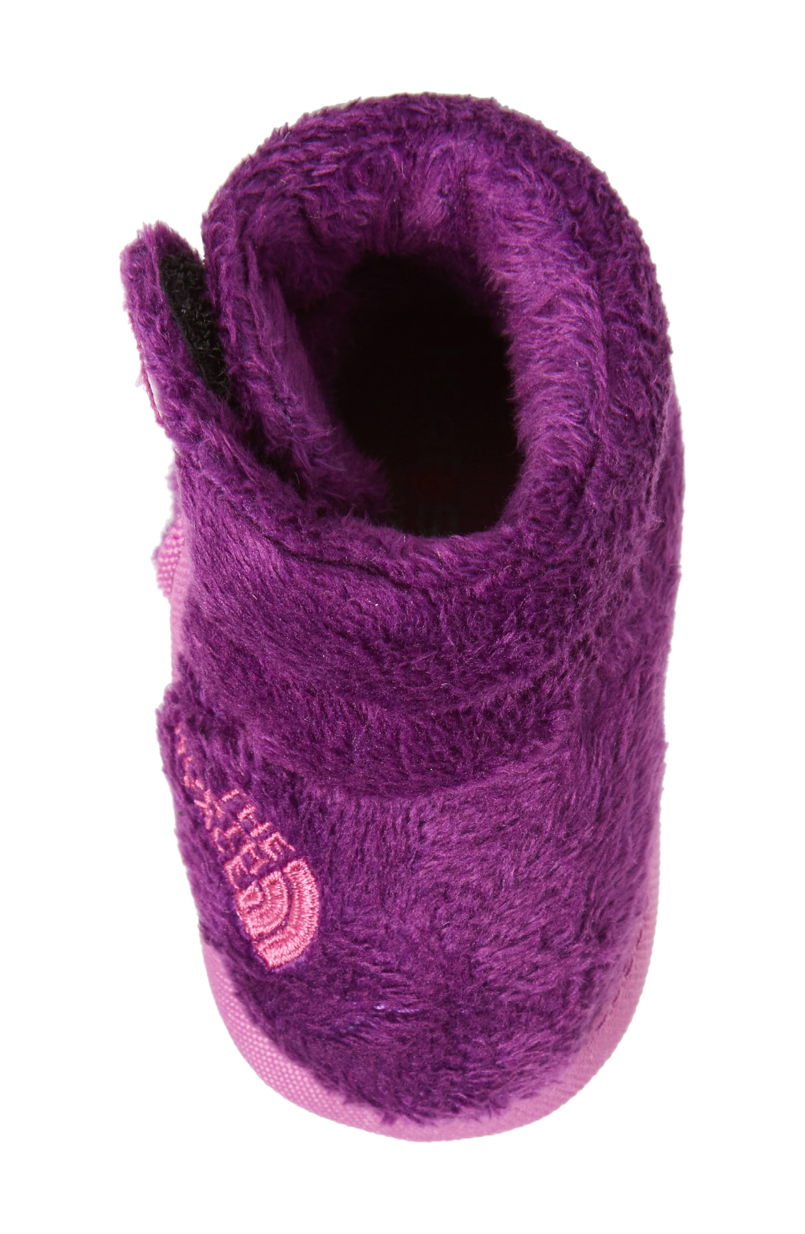 Faux Fur Bootie,                             Alternate thumbnail 5, color,                             Wood Violet