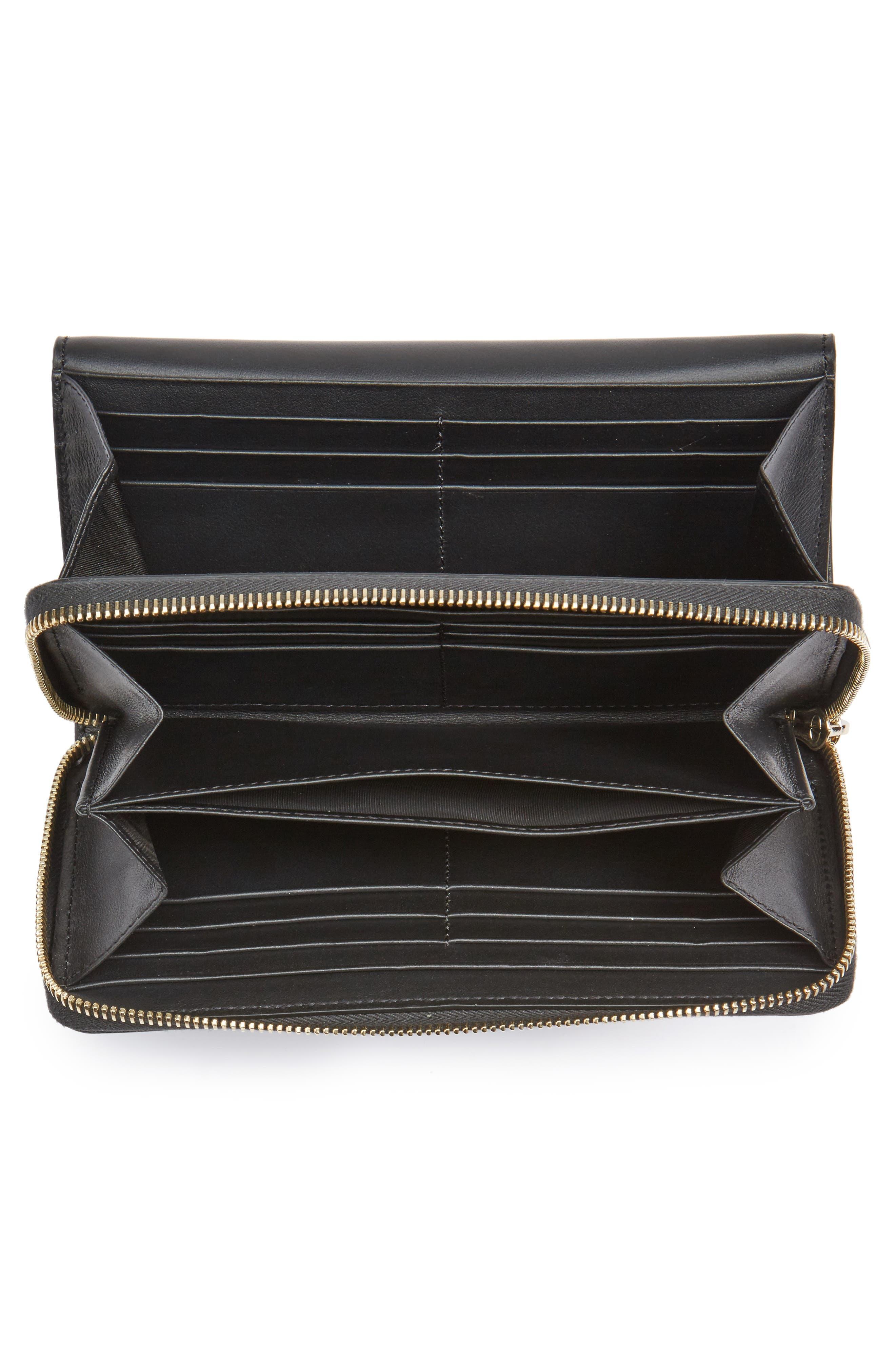 Alternate Image 3  - VALENTINO GARAVANI Small Rockstud Calfskin Leather Wallet on a Chain