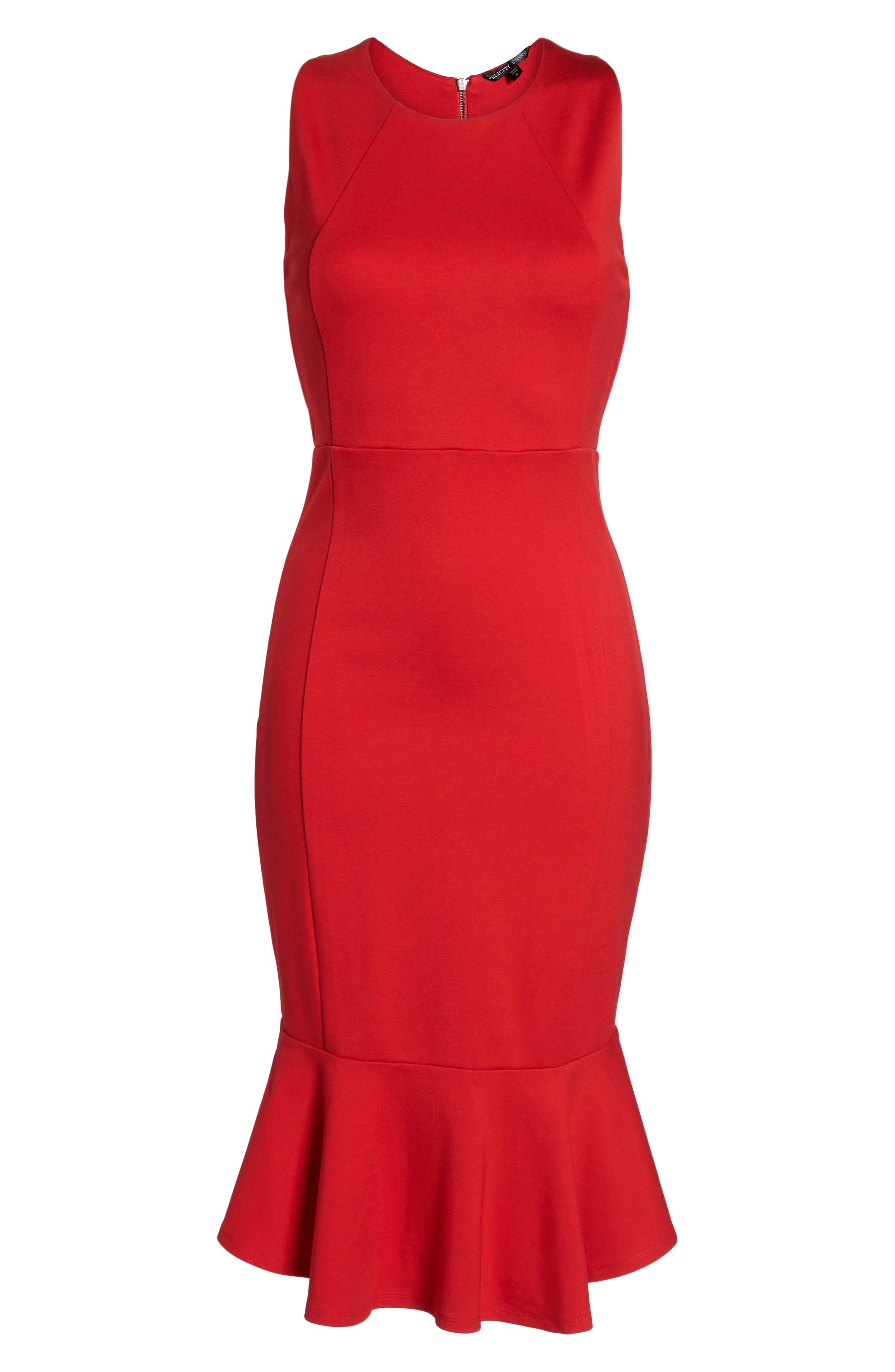 Alternate Image 6  - Felicity & Coco Monrow Flutter Hem Midi Dress (Nordstrom Exclusive)