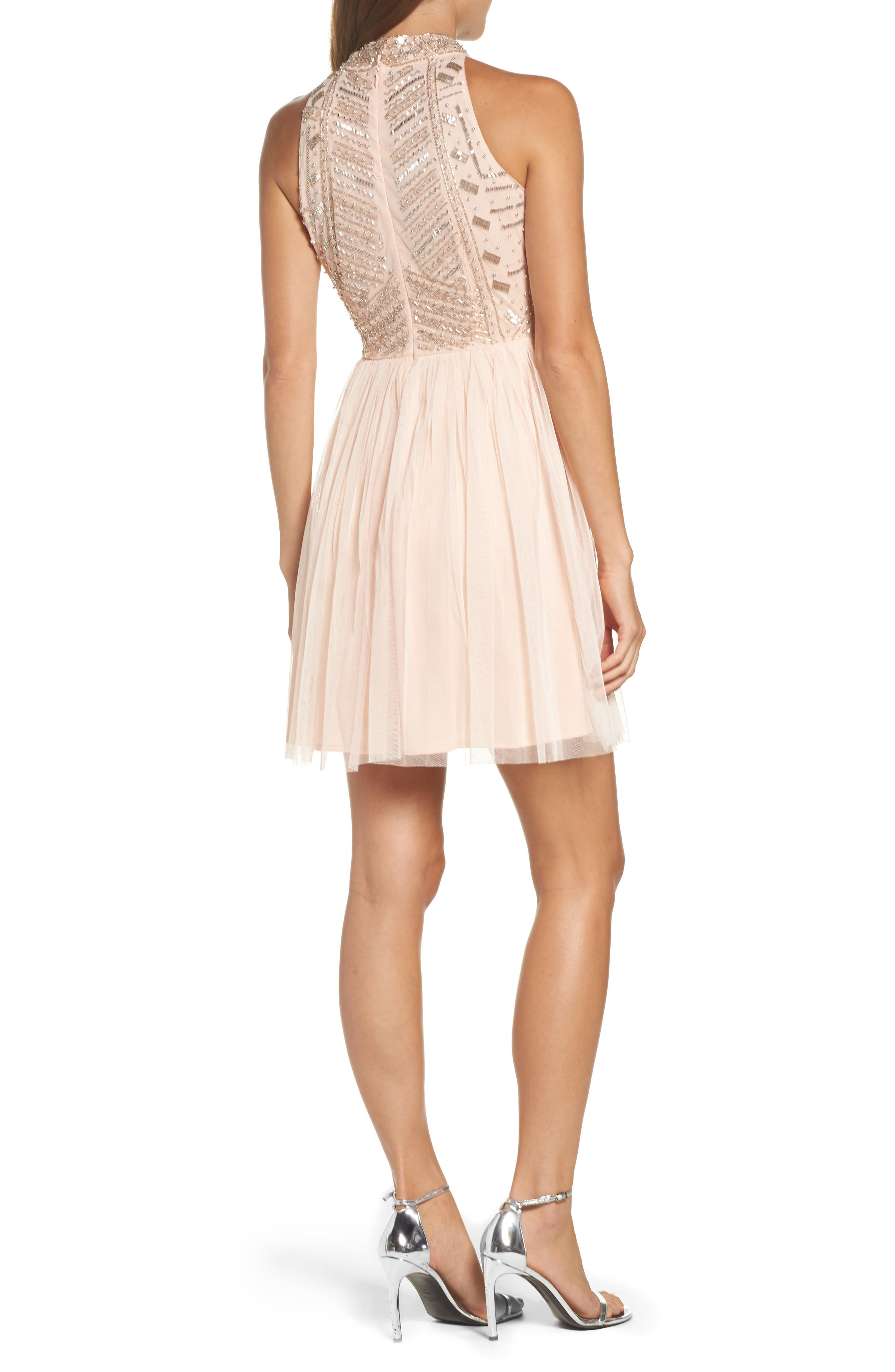 Alternate Image 2  - Lace & Beads Wren Beaded Skater Dress