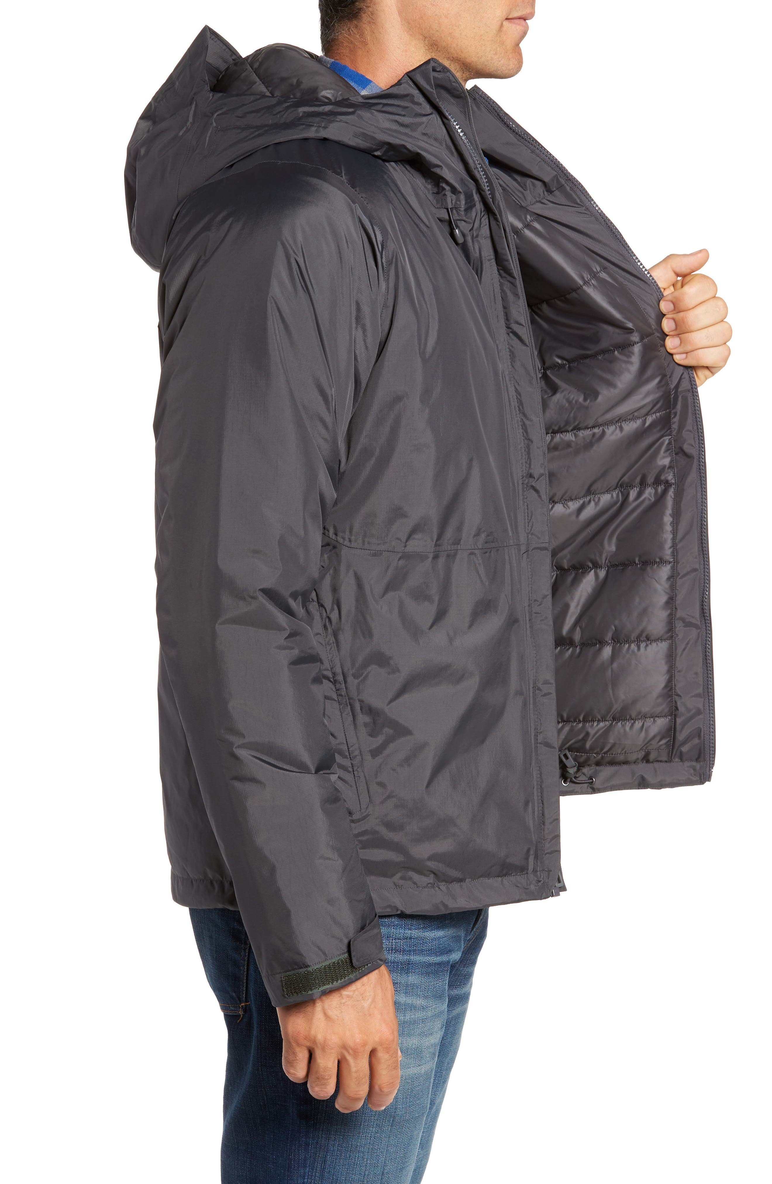Torrentshell H2No<sup>®</sup> Packable Insulated Rain Jacket,                             Alternate thumbnail 3, color,                             Forge Grey