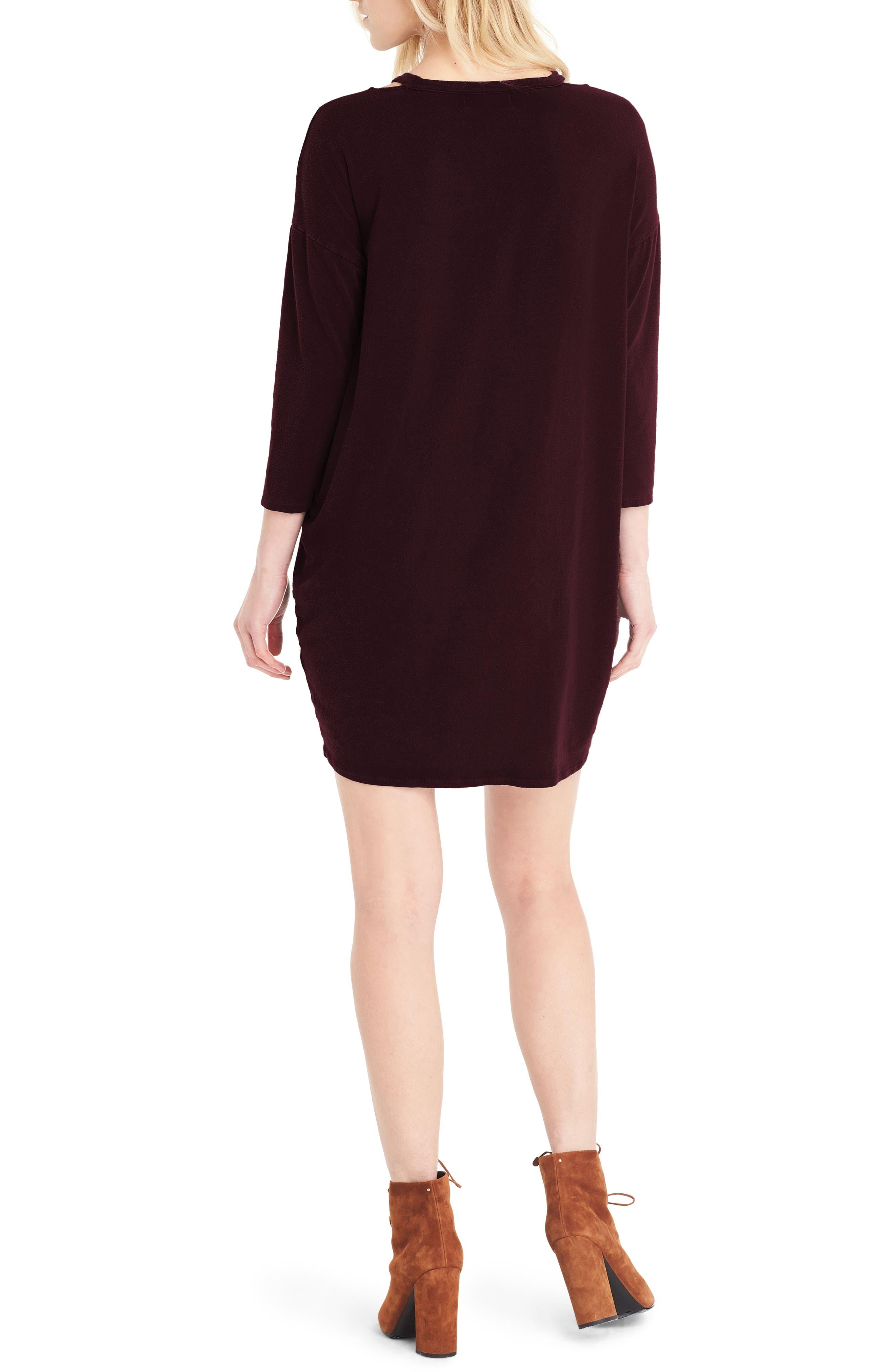 Alternate Image 2  - Michael Stars Slit Shoulder V-Neck Dress