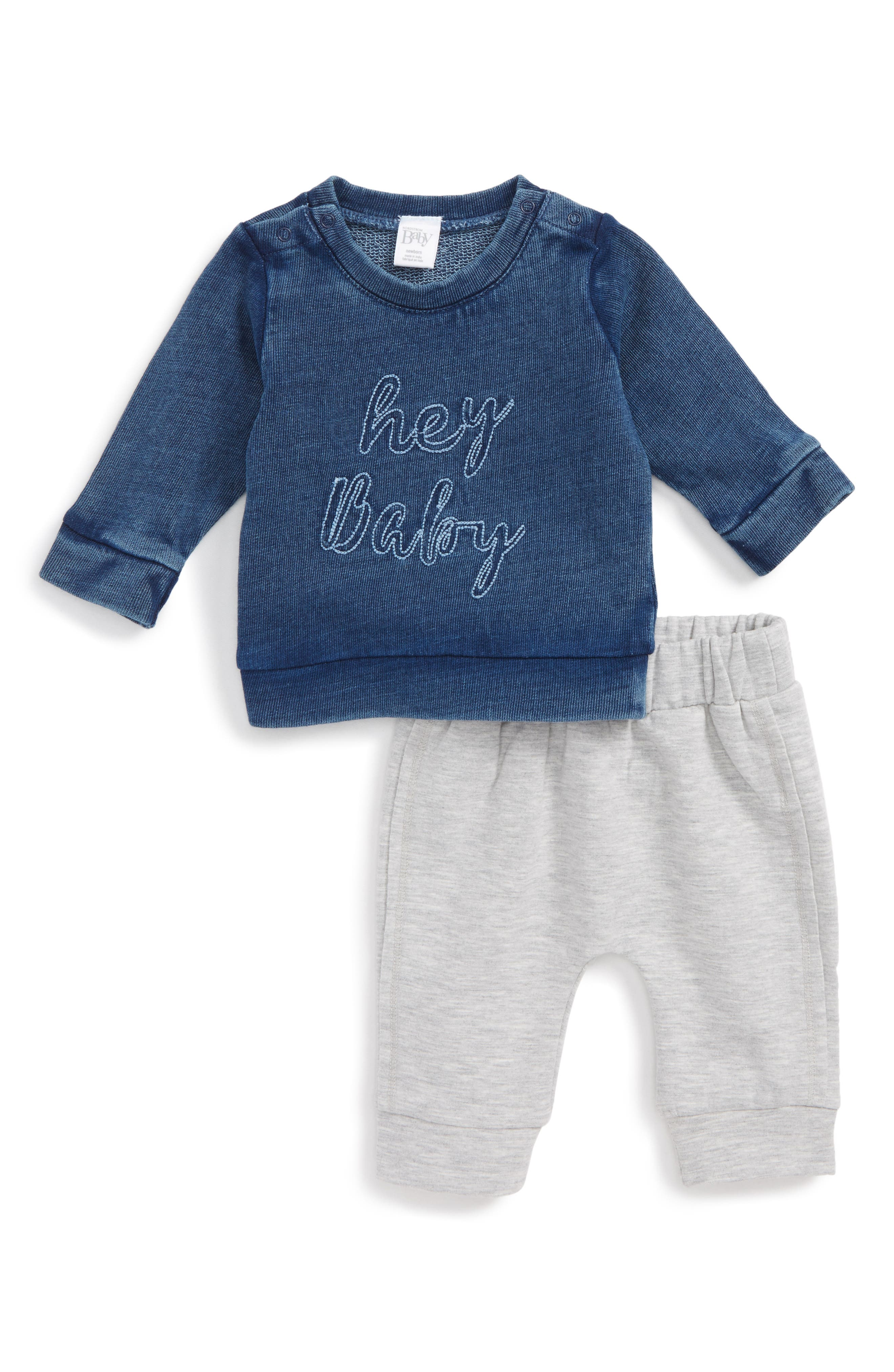 Nordstrom Baby Sweatshirt & Sweatpants Set (Baby Boys)