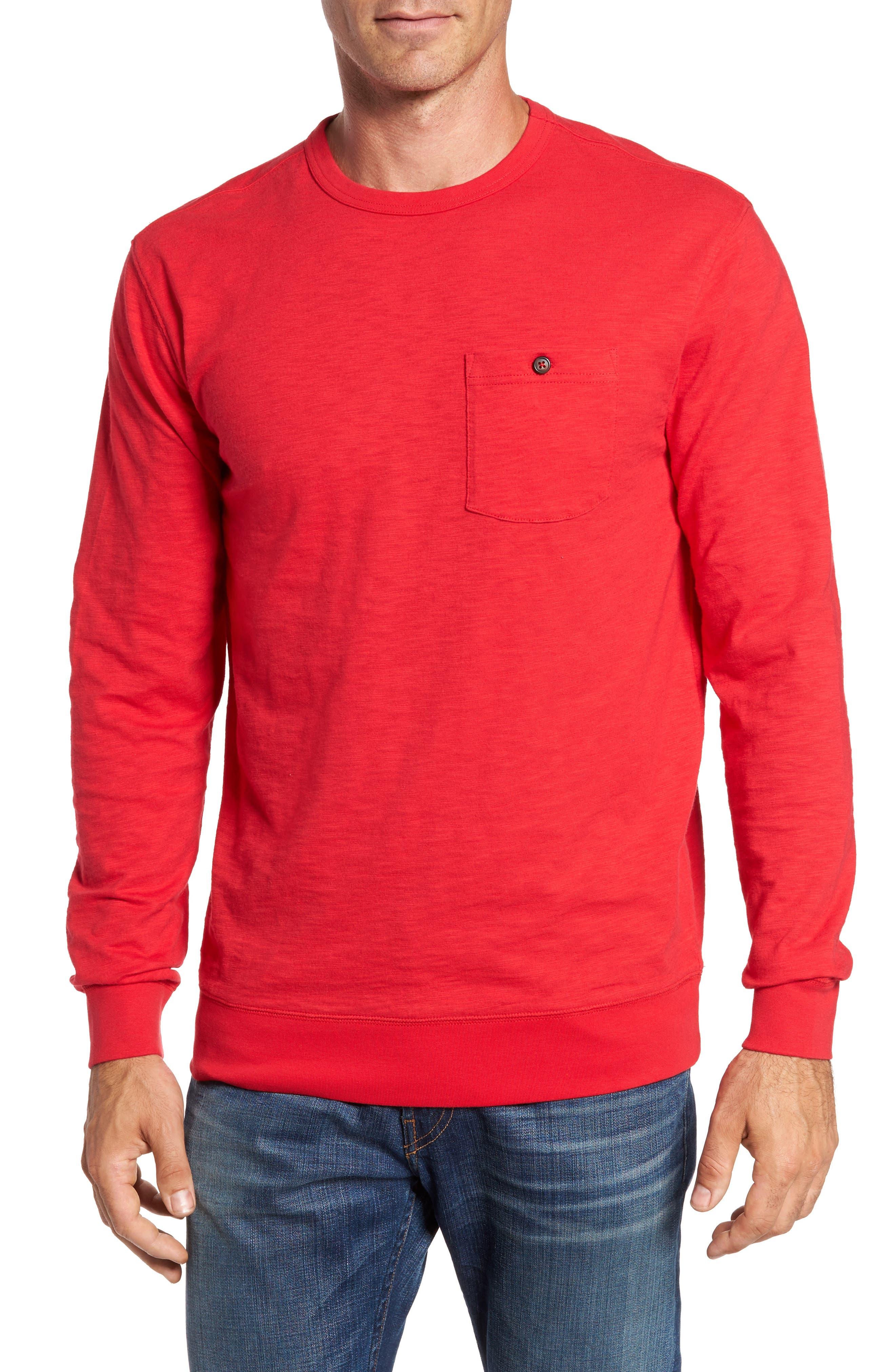 Montford Slub Pocket T-Shirt,                         Main,                         color, Reggae Red
