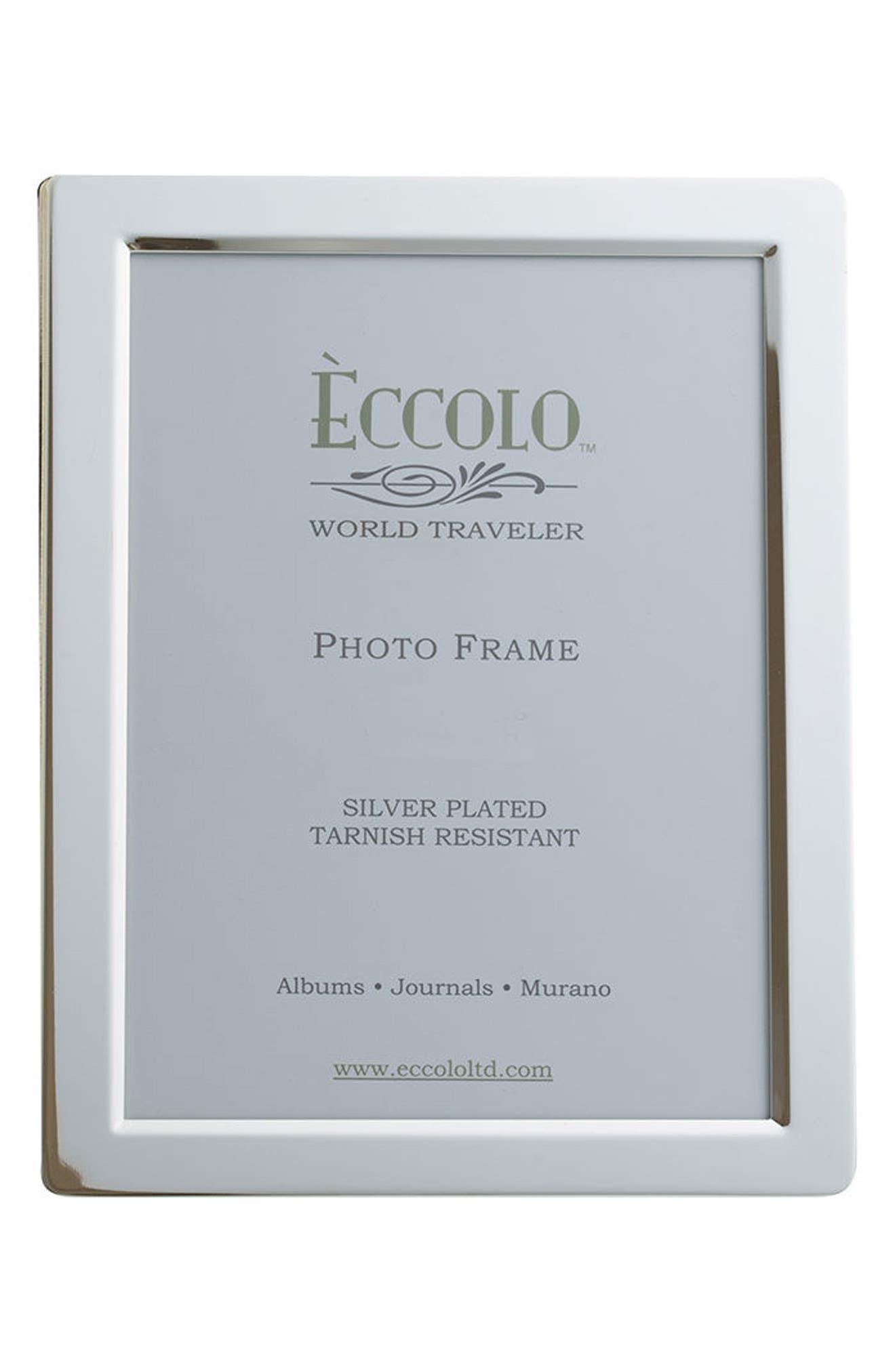 Eccolo Beveled Silver Picture Frame