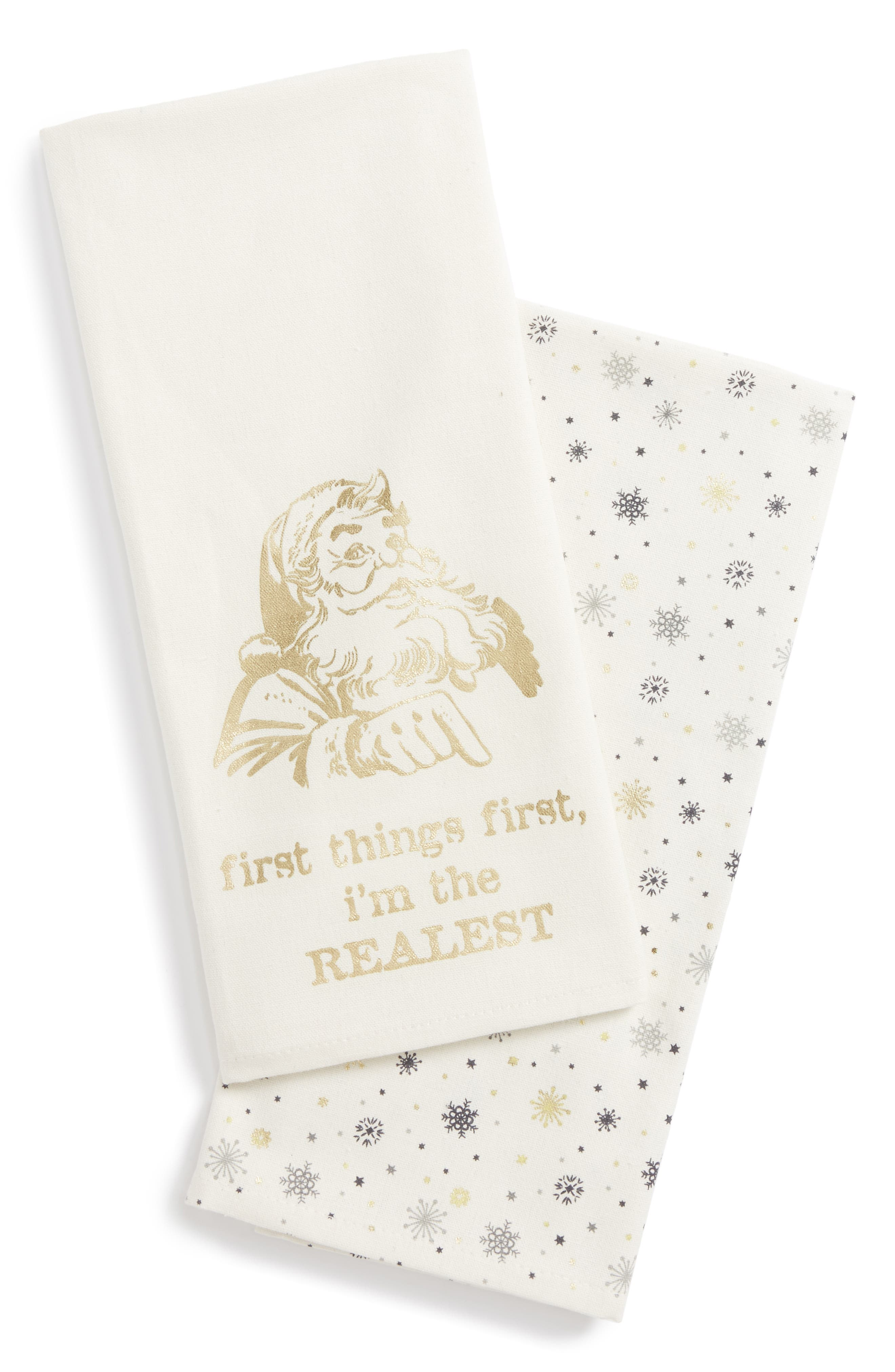 Main Image - Levtex I'm the Realest Set of 2 Dish Towels