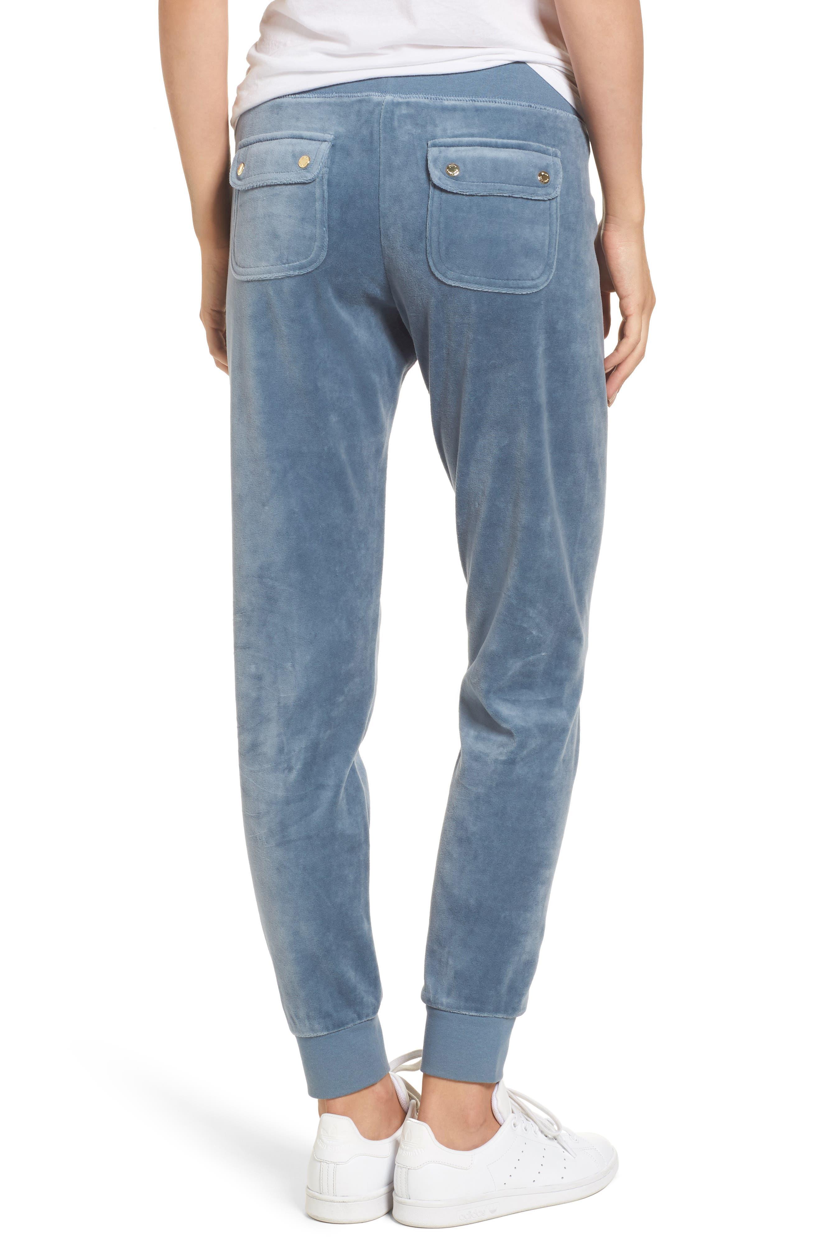 Alternate Image 2  - Juicy Couture Zuma Crystal Velour Pants