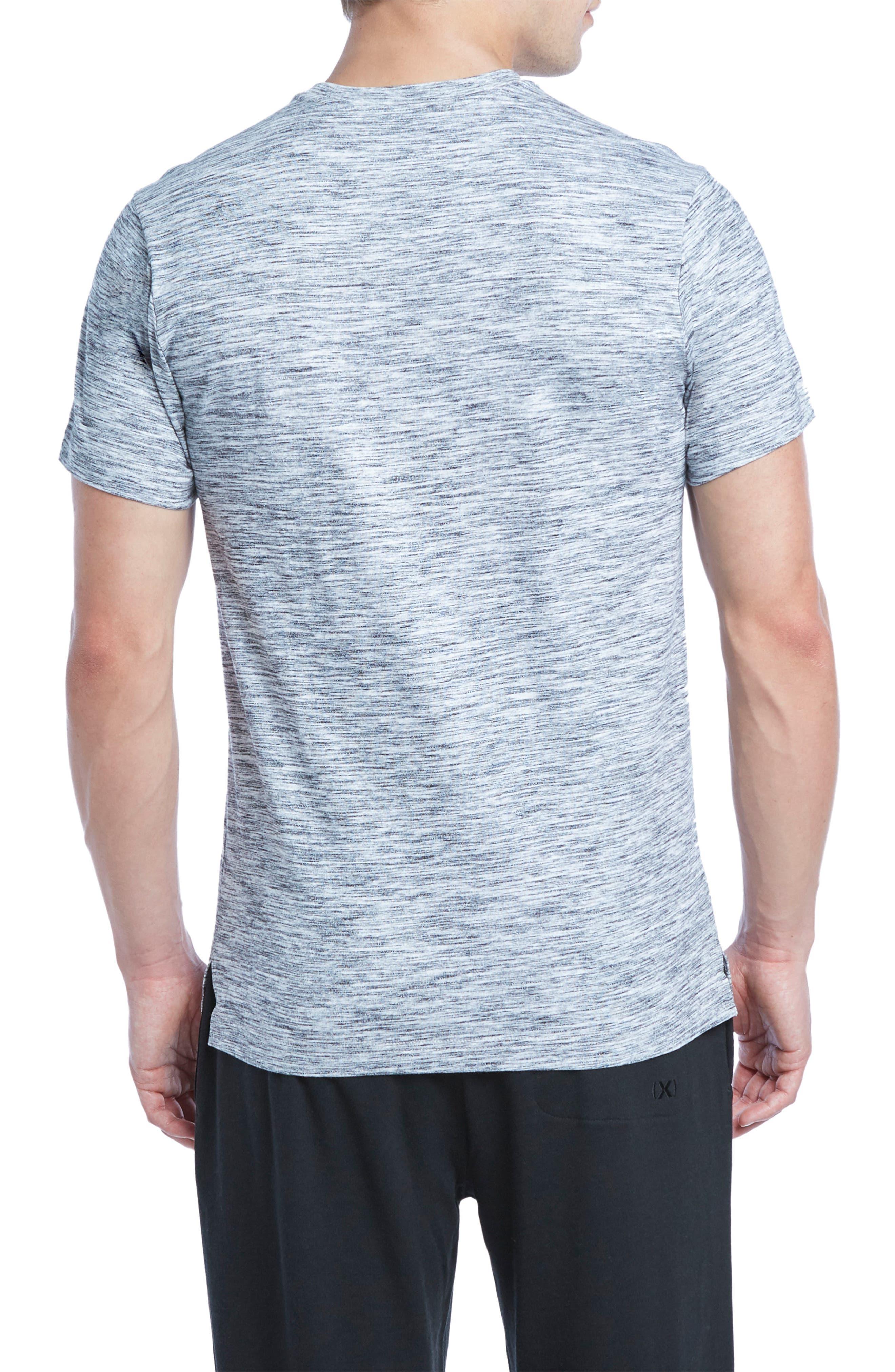 Static Crewneck Cotton T-Shirt,                             Alternate thumbnail 2, color,                             Black/ White