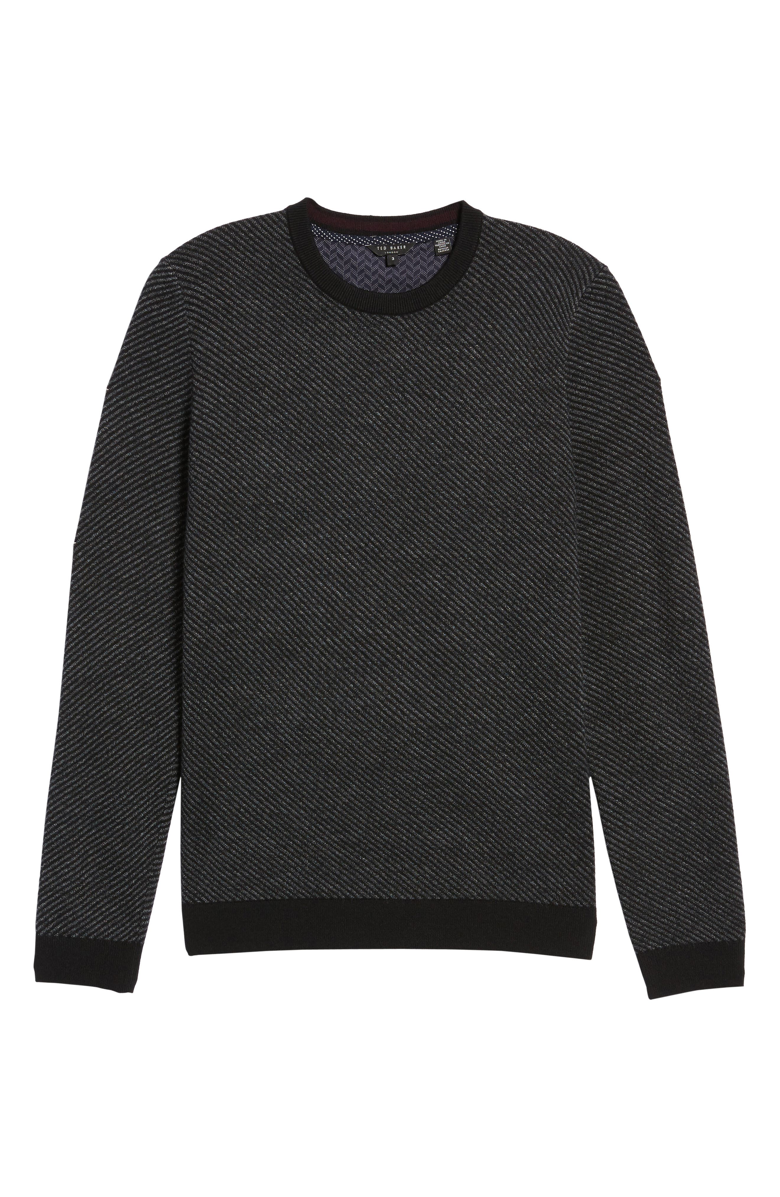 Alternate Image 6  - Ted Baker London Cinamon Interest Stitch Crewneck Sweater
