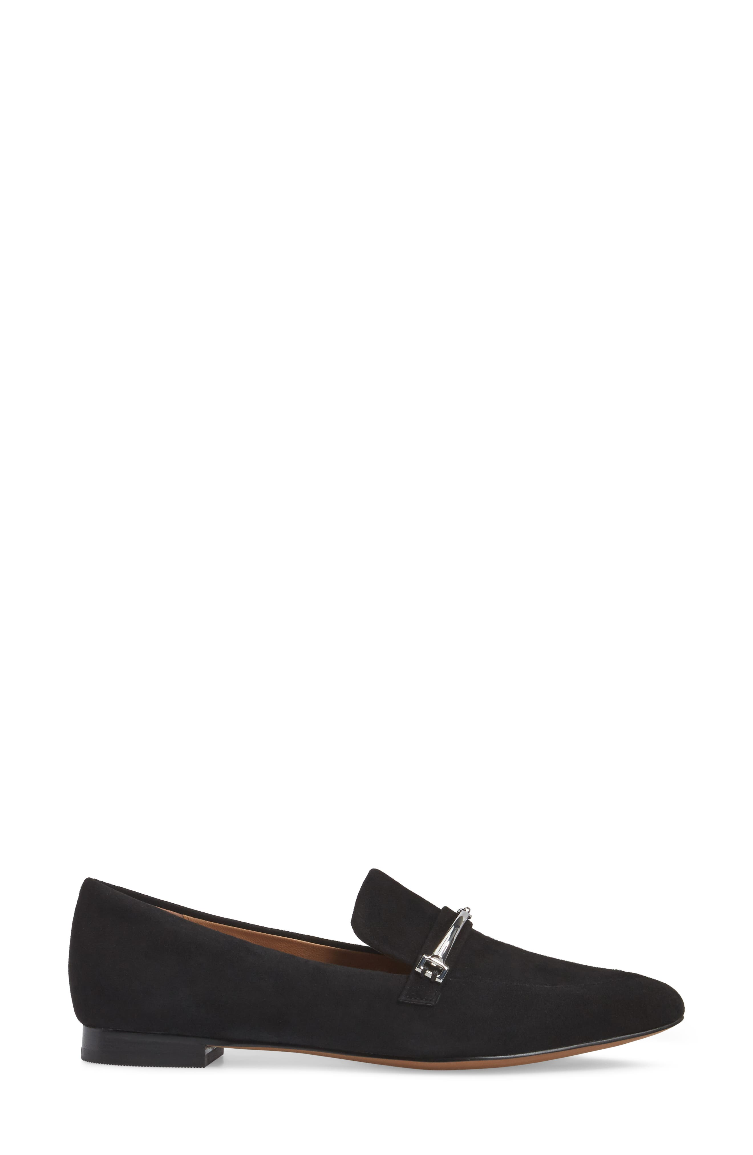 Molly Loafer,                             Alternate thumbnail 3, color,                             Black Suede