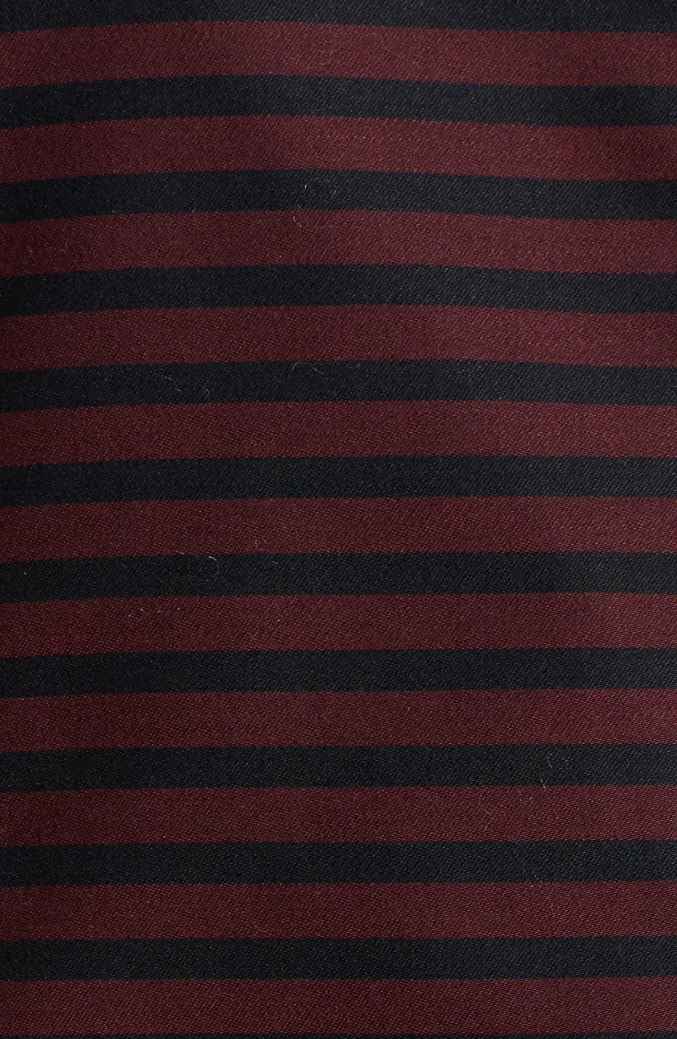 Alternate Image 4  - Foxcroft Casey Stripe Sateen Blouse (Plus Size)