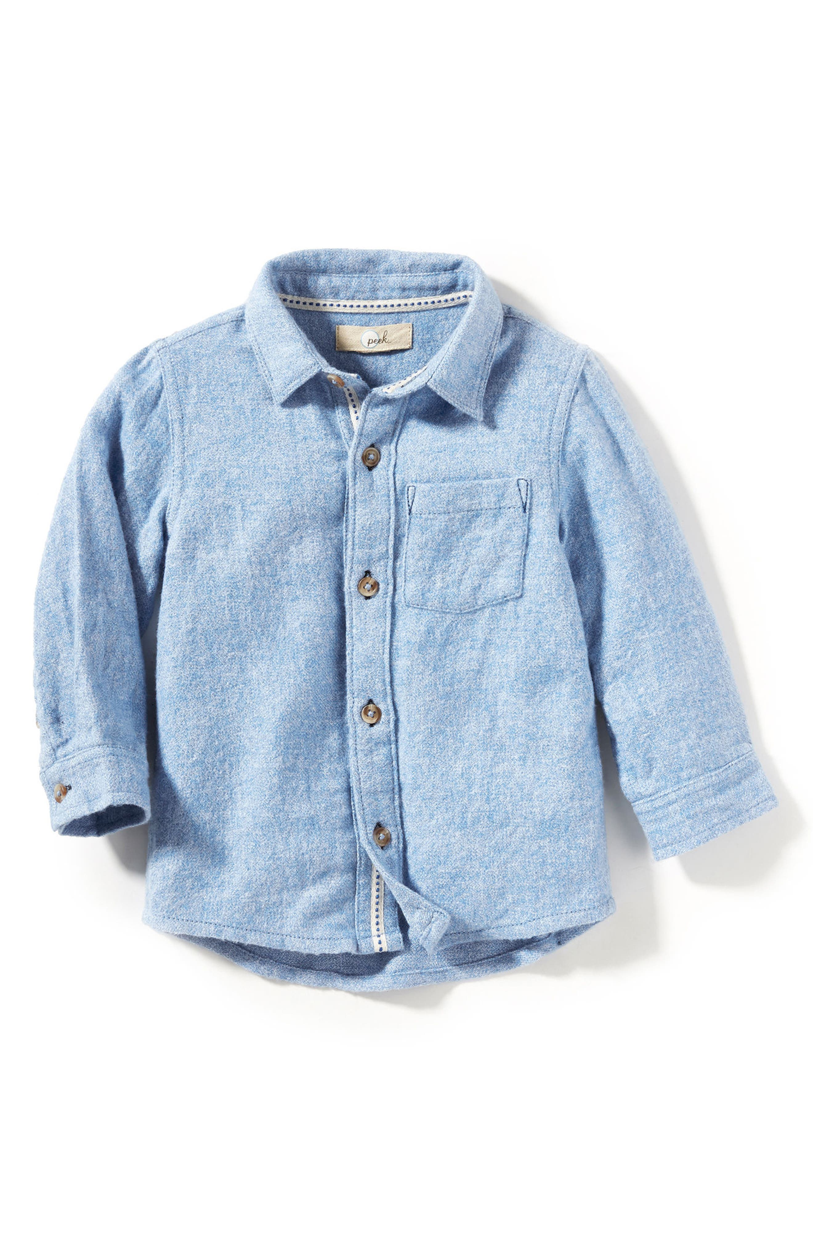 Peek James Woven Flannel Shirt (Baby Boys)