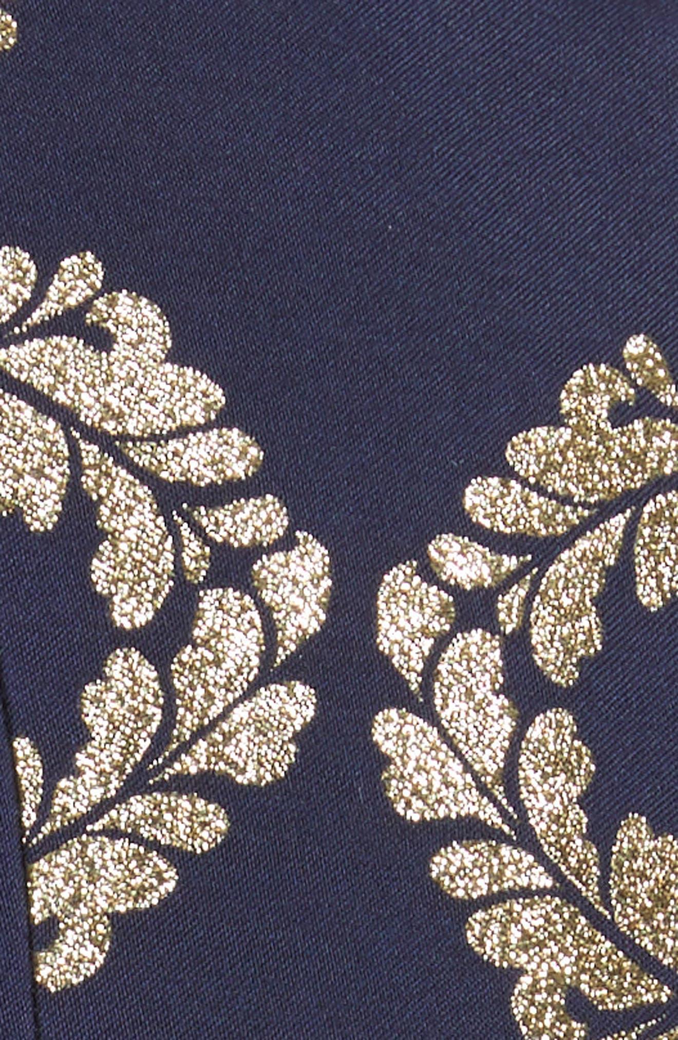 Kyoto Fit & Flare Dress,                             Alternate thumbnail 5, color,                             Mid Blue