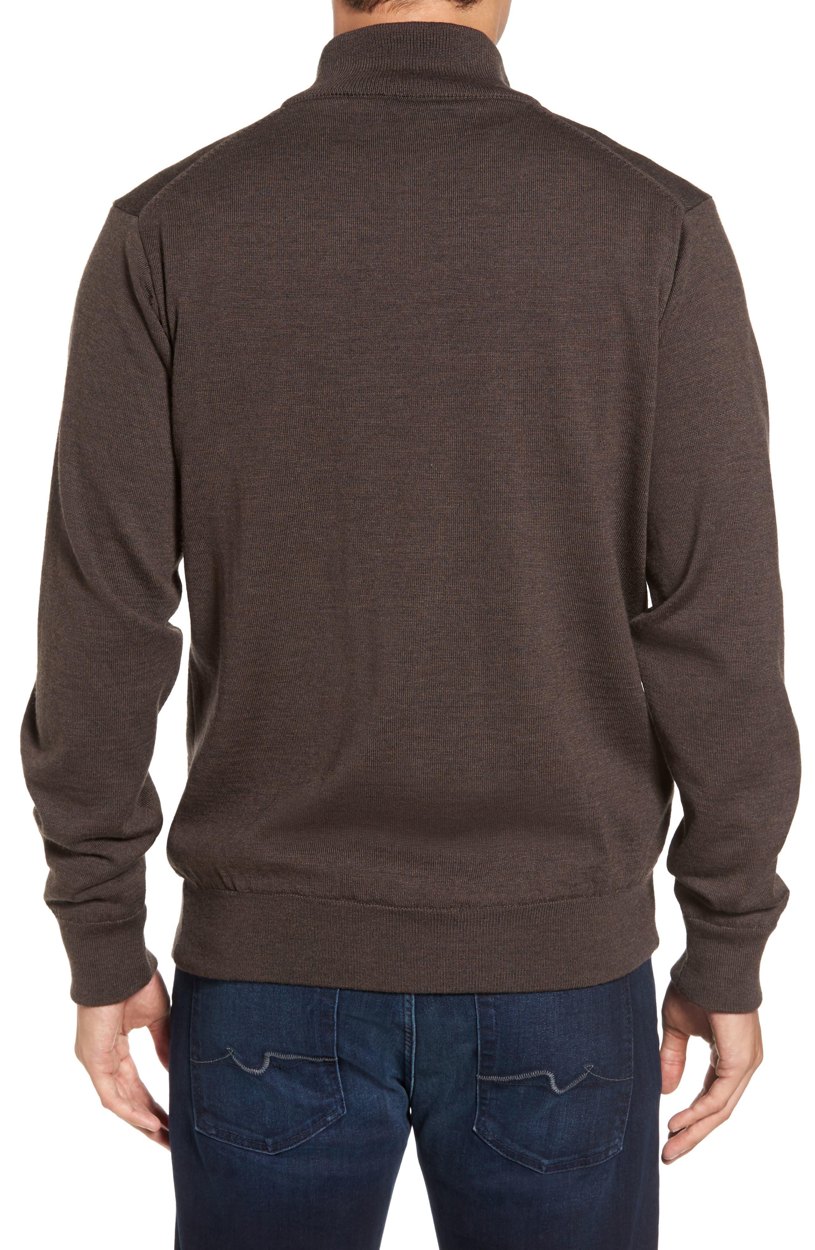 Alternate Image 2  - Barbour Gamlin Quarter Zip Wool Pullover