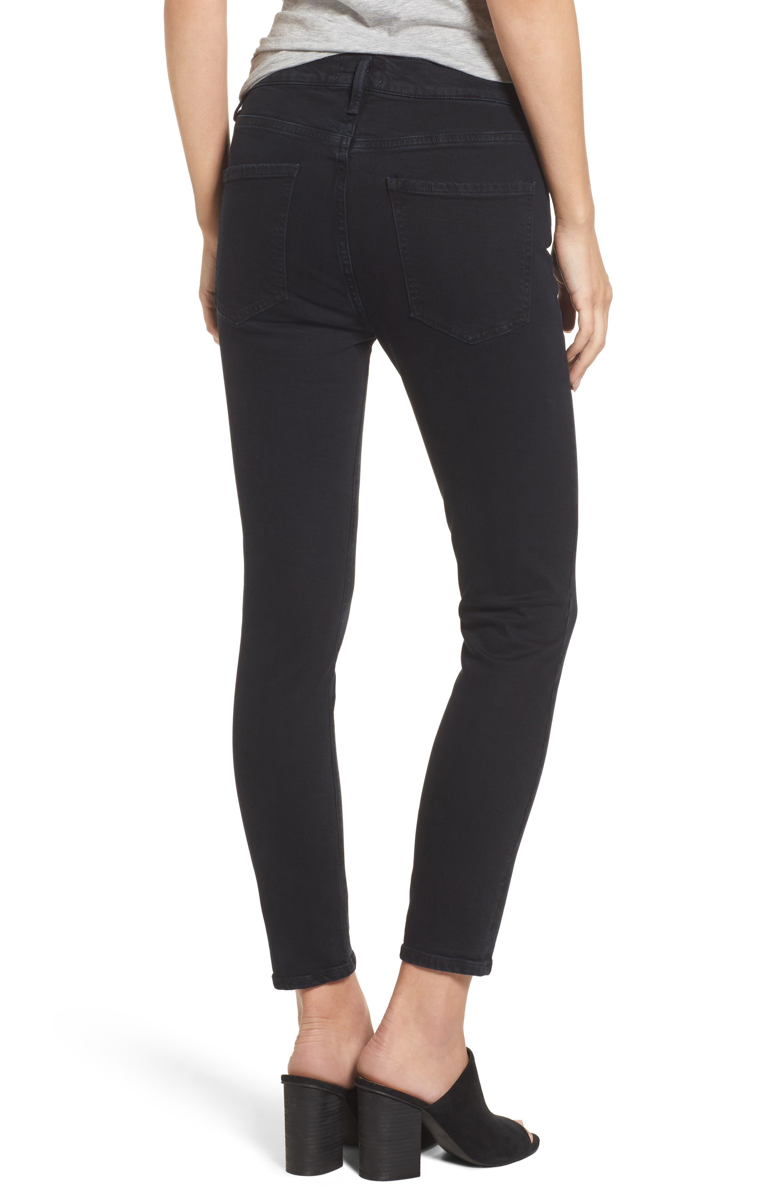 Alternate Image 2  - AGOLDE Sophie Crop High Rise Skinny Jeans (Princeton)
