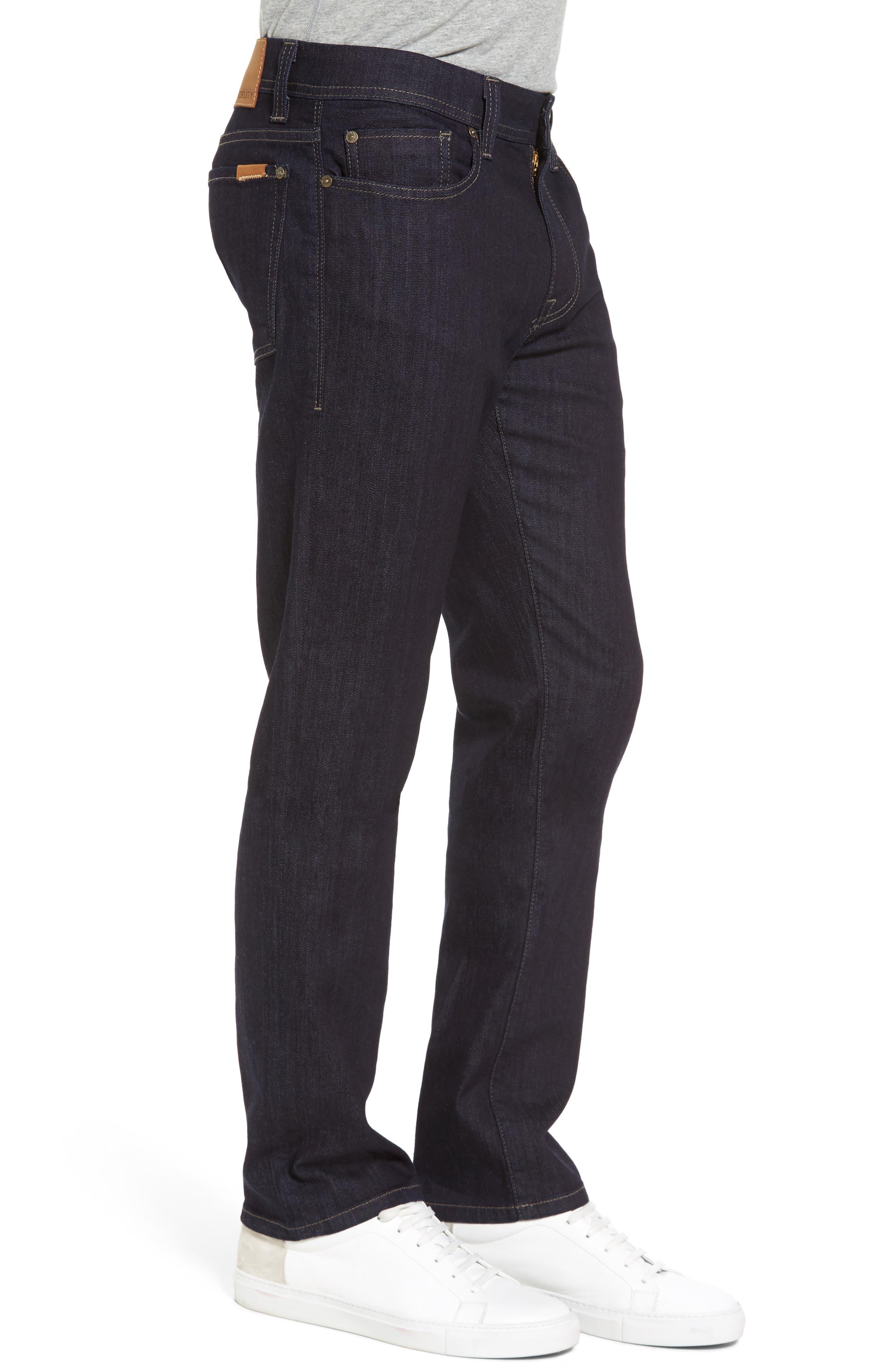 Alternate Image 3  - Fidelity Denim Jimmy Slim Straight Leg Jeans (Galaxy Rinse)