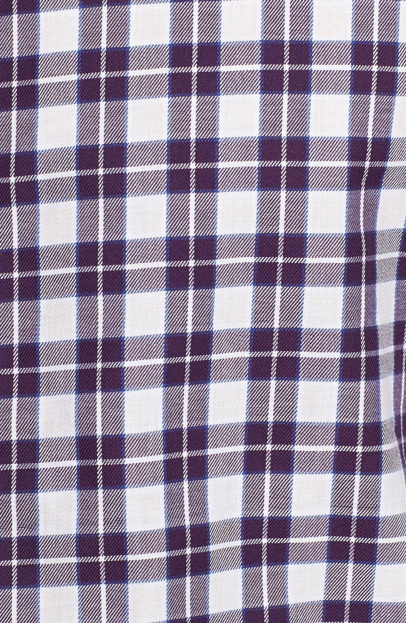 Cameron Regular Fit Plaid Sport Shirt,                             Alternate thumbnail 4, color,                             Purple