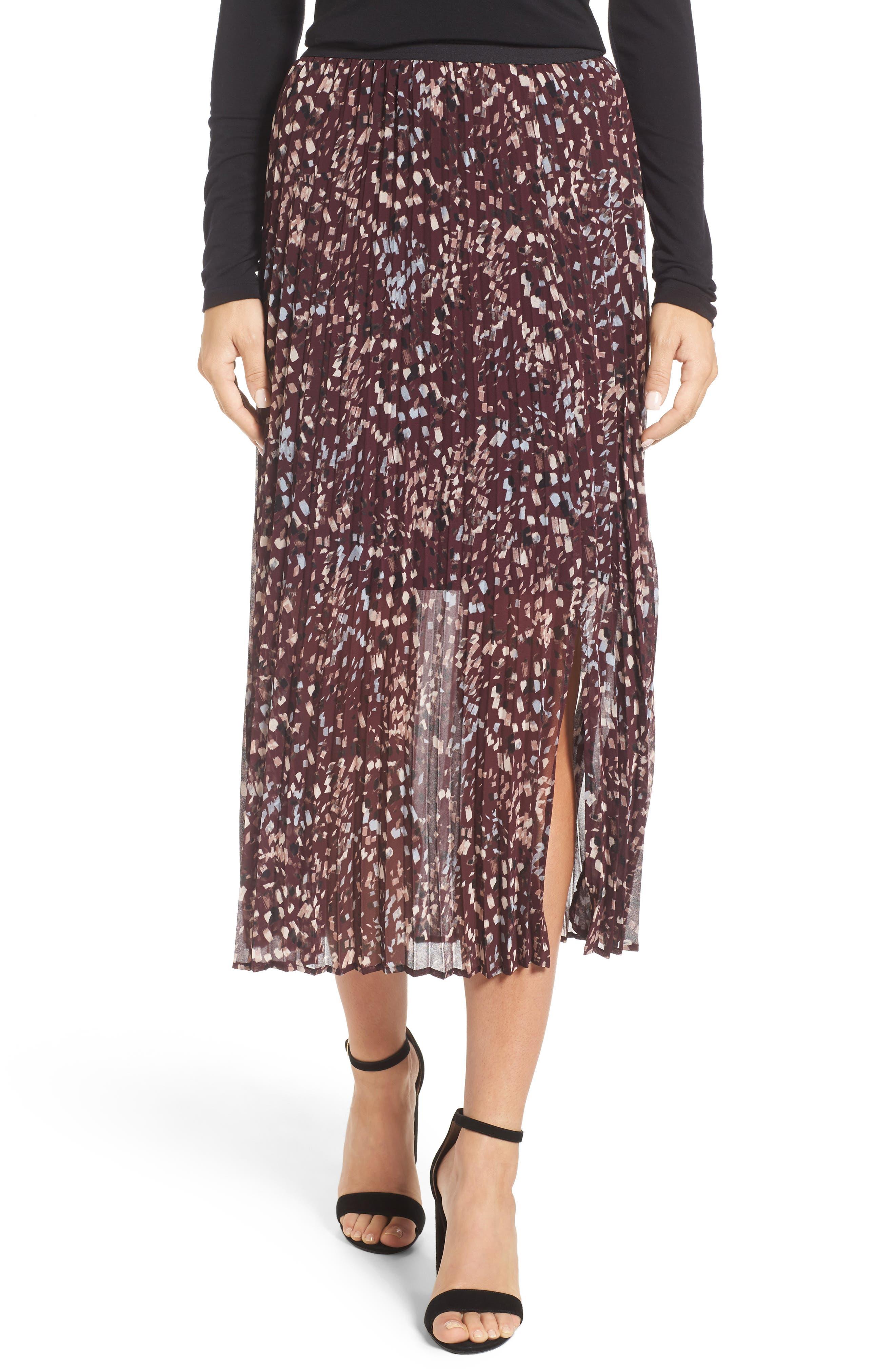 NIC+ZOE Confetti Pleat Midi Skirt (Regular & Petite)