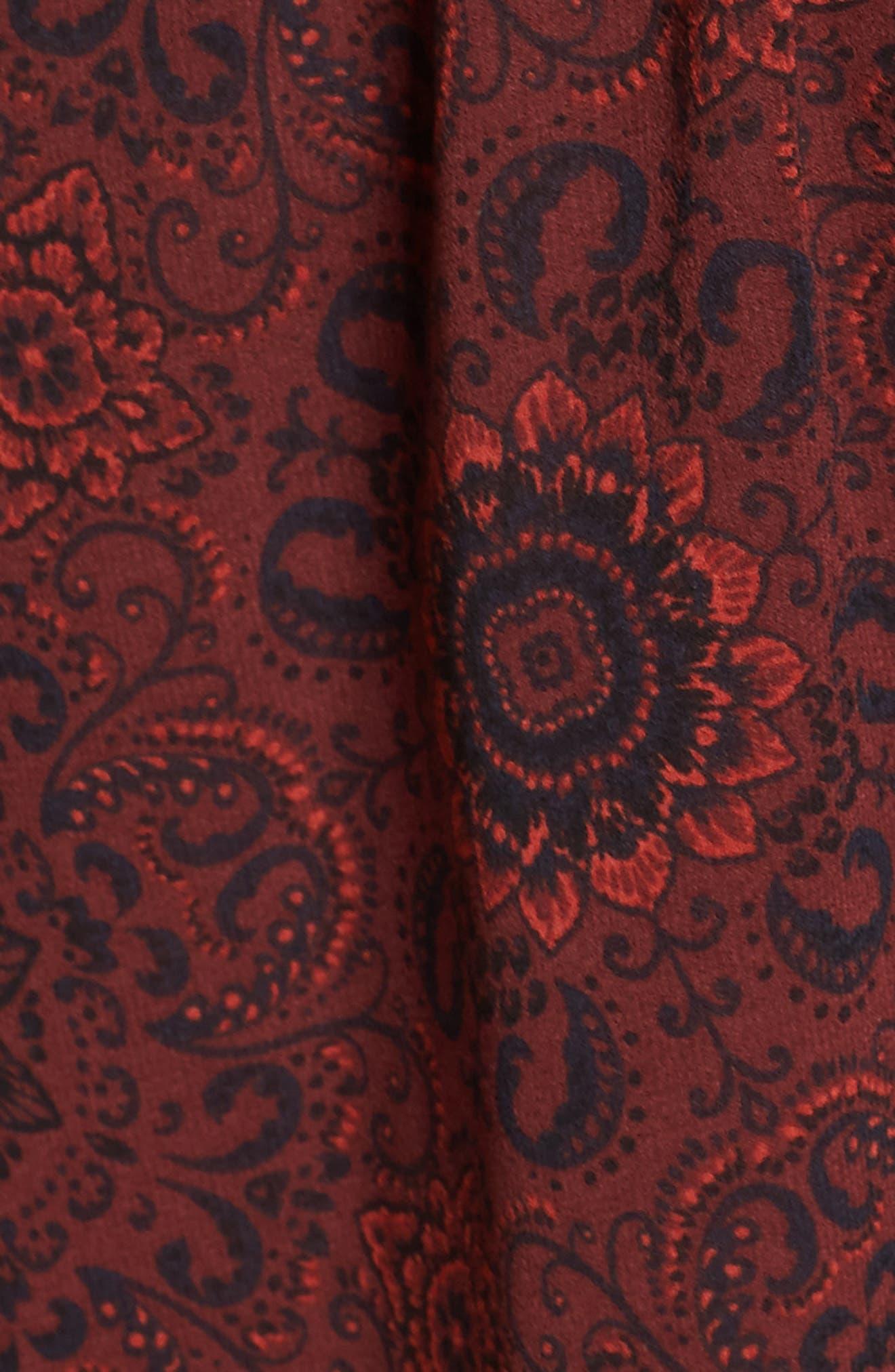 Branton Fit & Flare Dress,                             Alternate thumbnail 5, color,                             Bordeaux