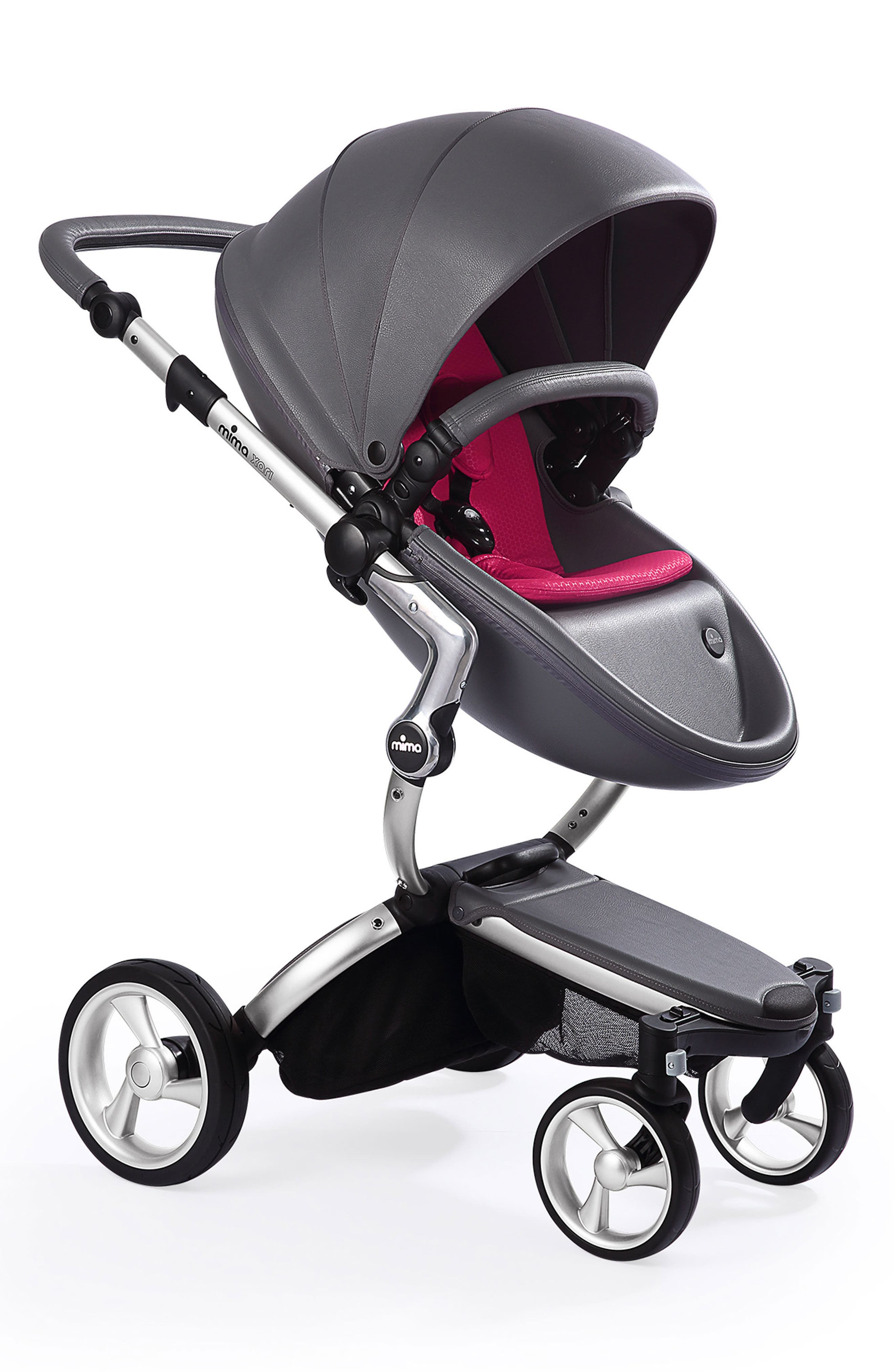Alternate Image 1 Selected - Mima Xari Aluminum Chassis Stroller with Reversible Reclining Seat & Carrycot