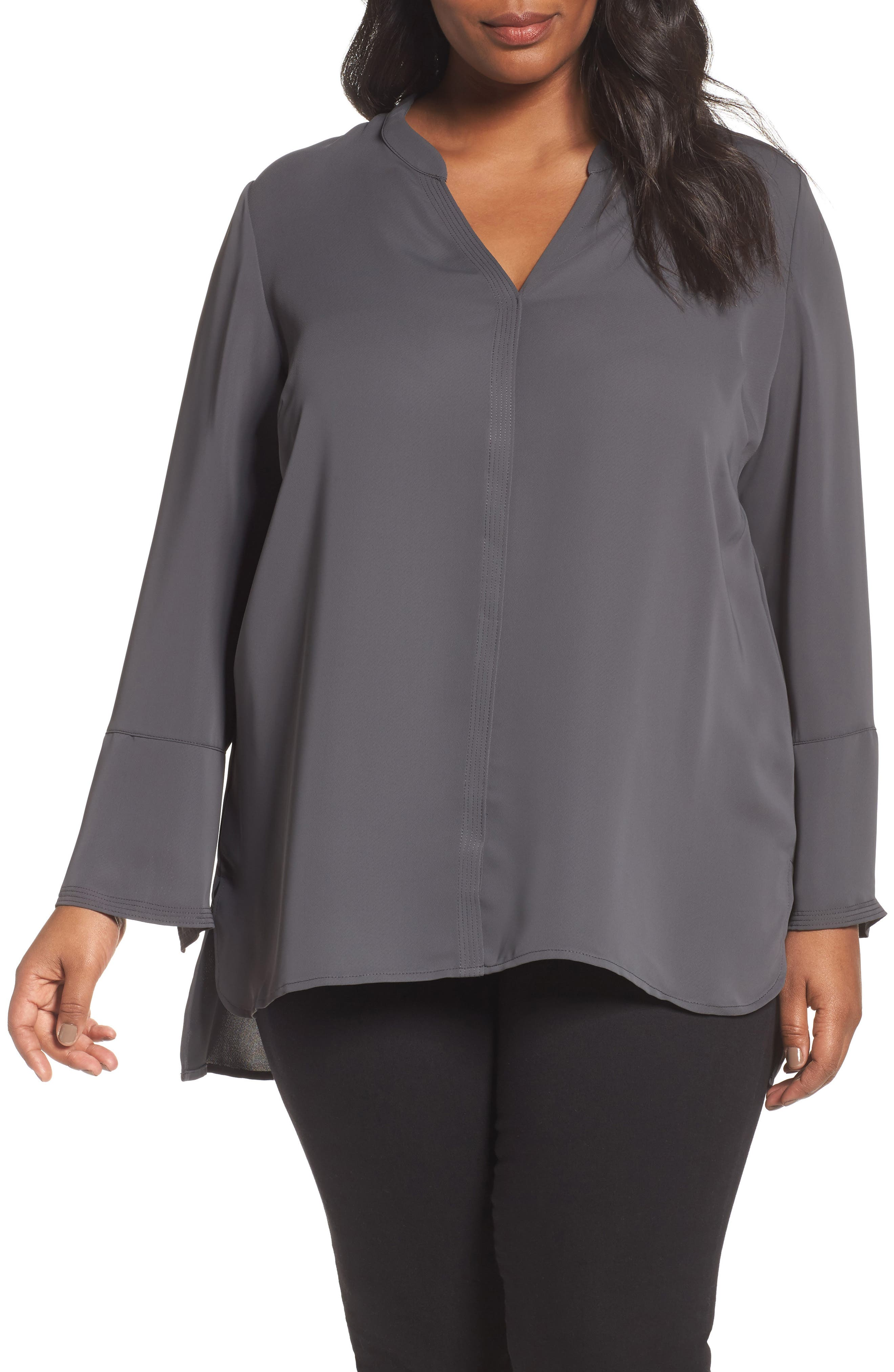 NIC+ZOE Endless Empire Matte Satin Blouse (Plus Size)