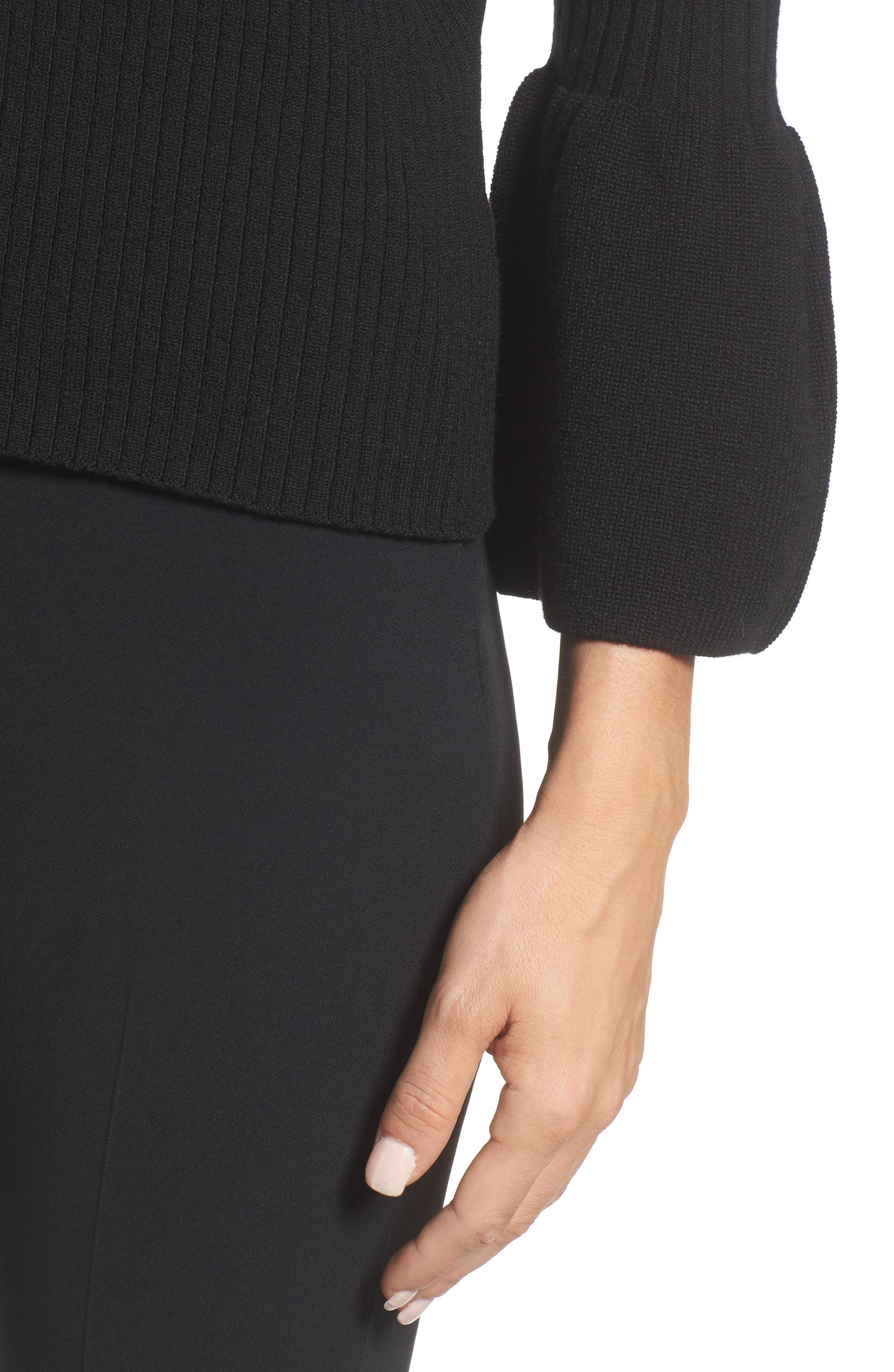 Alternate Image 4  - BOSS Fantasia Ribbed Bell Sleeve Sweater