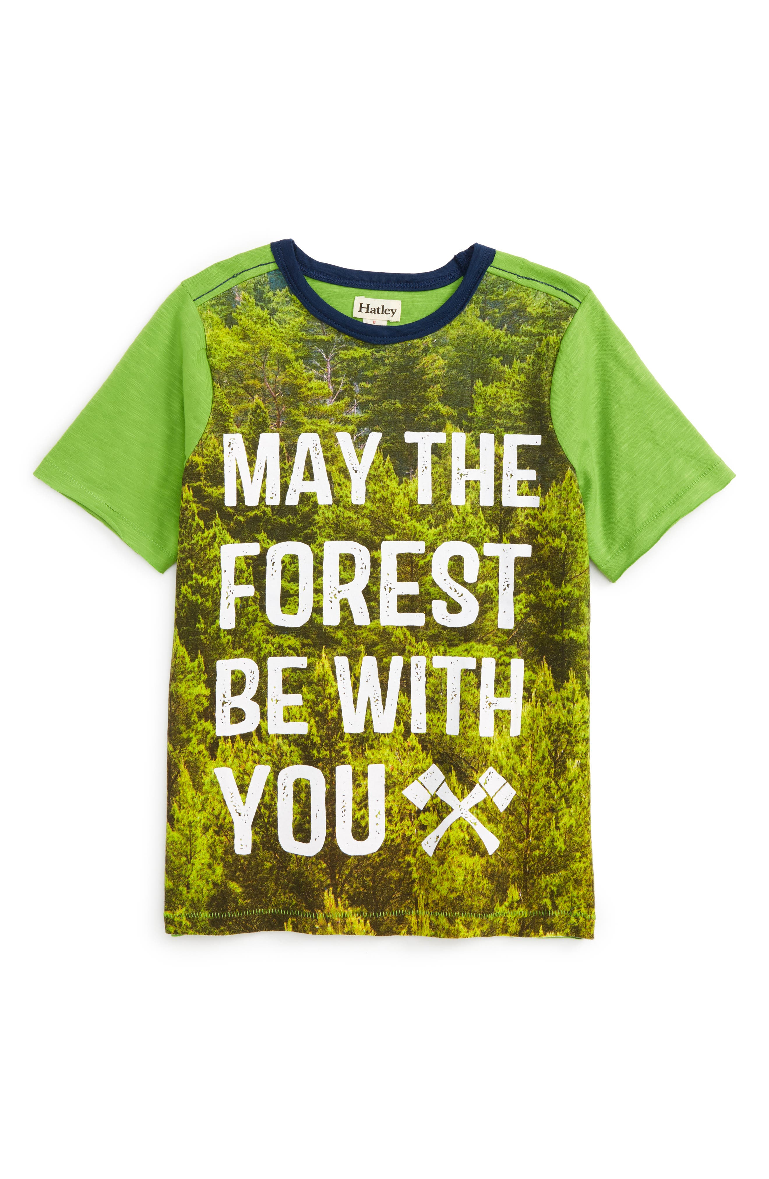 May the Forest Be With You T-Shirt,                             Main thumbnail 1, color,                             May The Forest Be With You