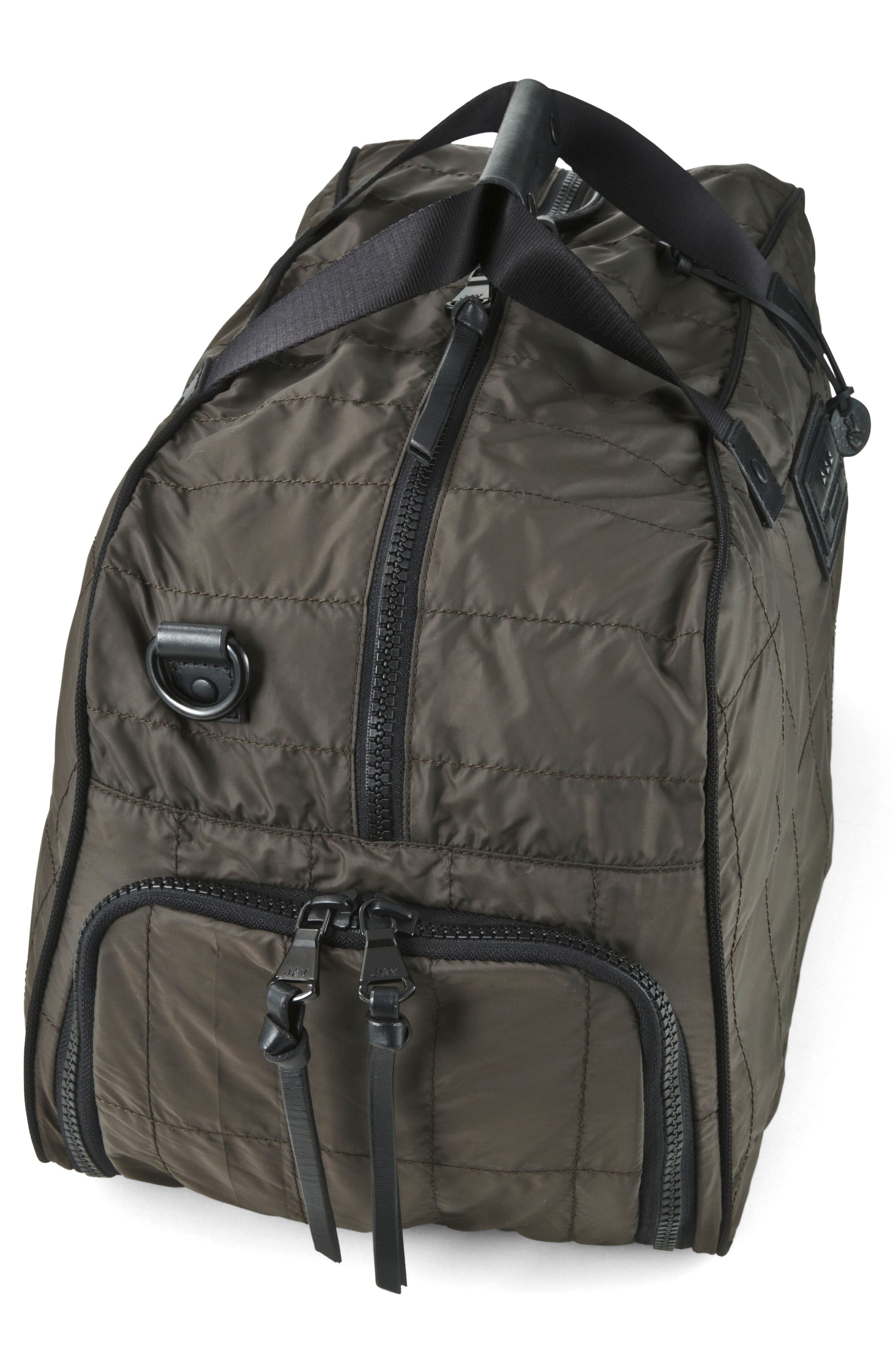 Quilted Nylon Duffel,                             Alternate thumbnail 4, color,                             Army Green