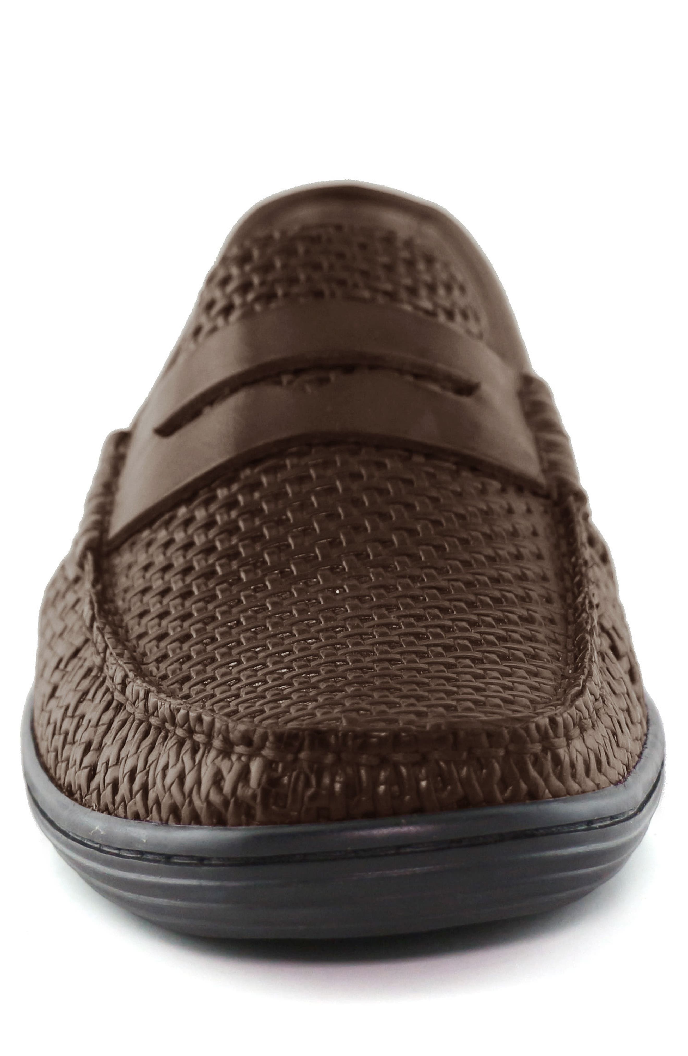 Atlantic Penny Loafer,                             Alternate thumbnail 4, color,                             Brown Leather