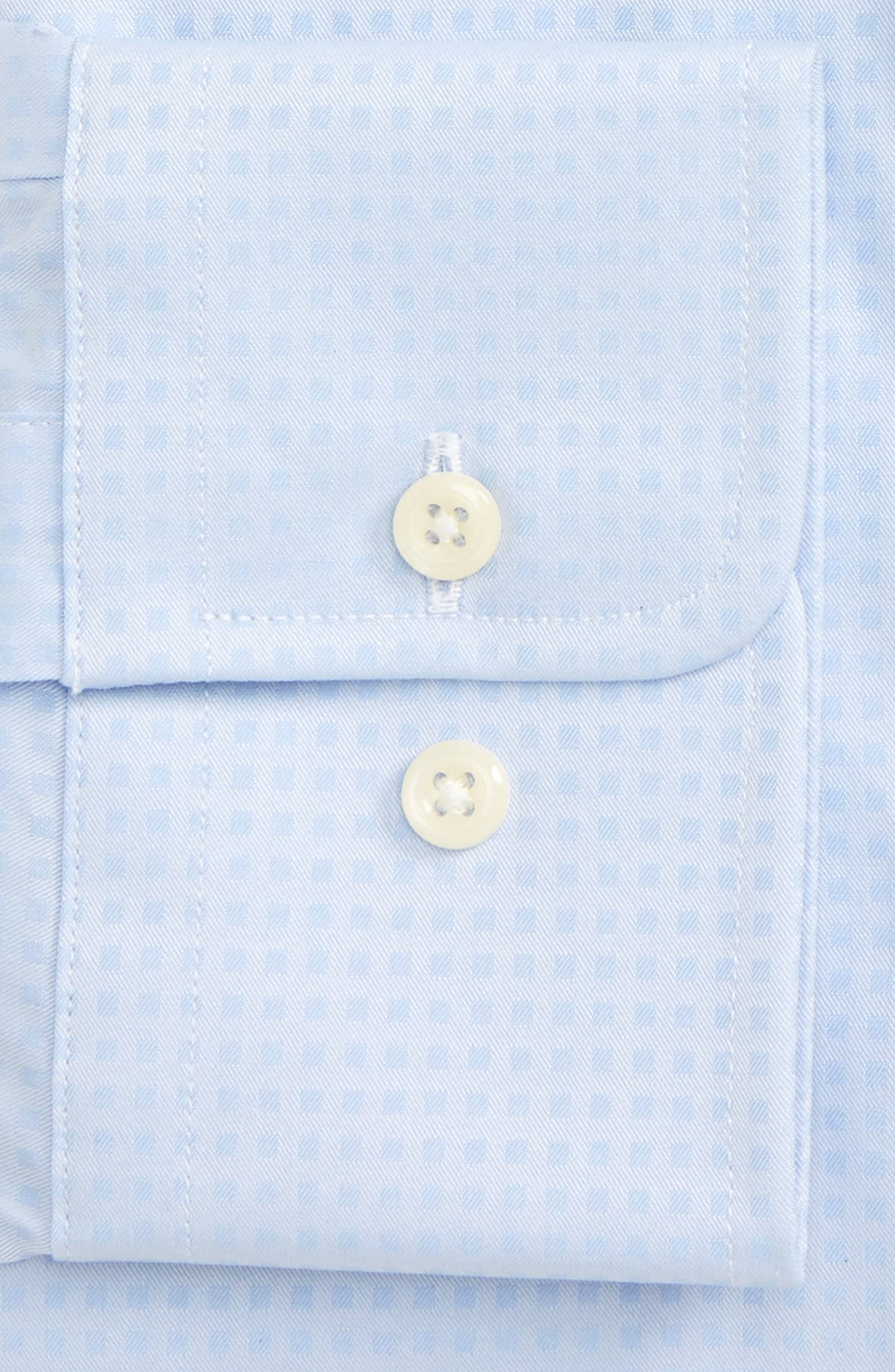 Regular Fit Check Dress Shirt,                             Alternate thumbnail 2, color,                             Sky